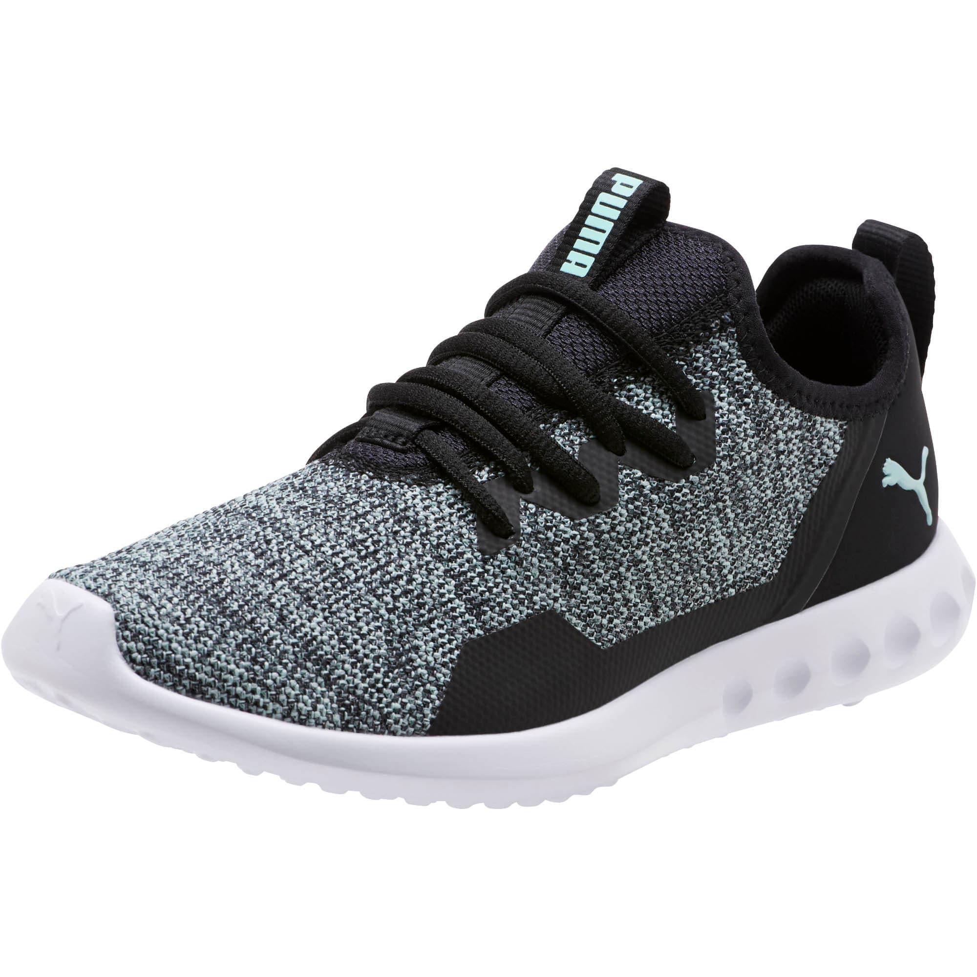 Thumbnail 1 of Carson 2 X Knit Women's Running Shoes, Puma Black-Fair Aqua, medium