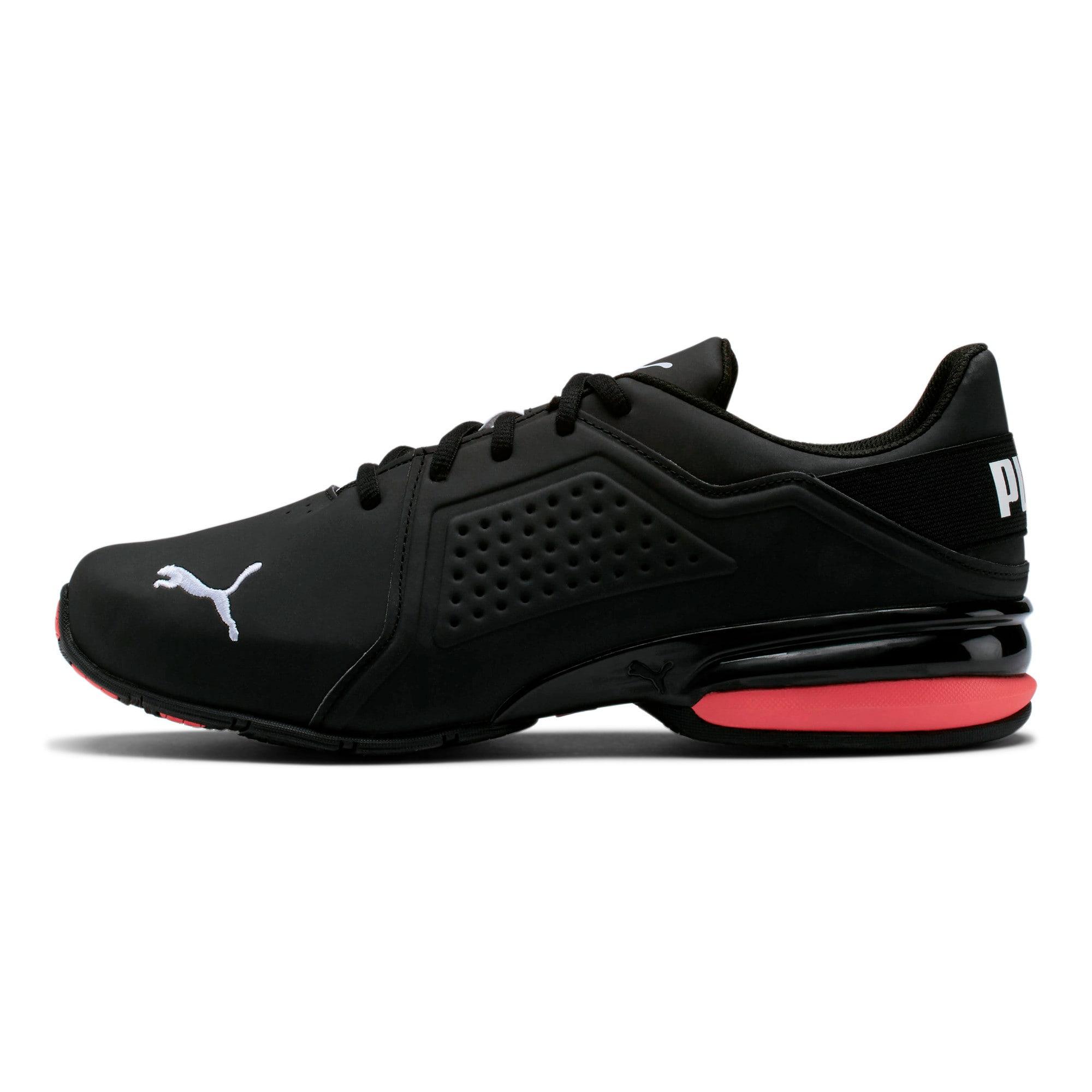 Thumbnail 1 of Viz Runner Men's Running Shoes, Puma Black-Puma White, medium
