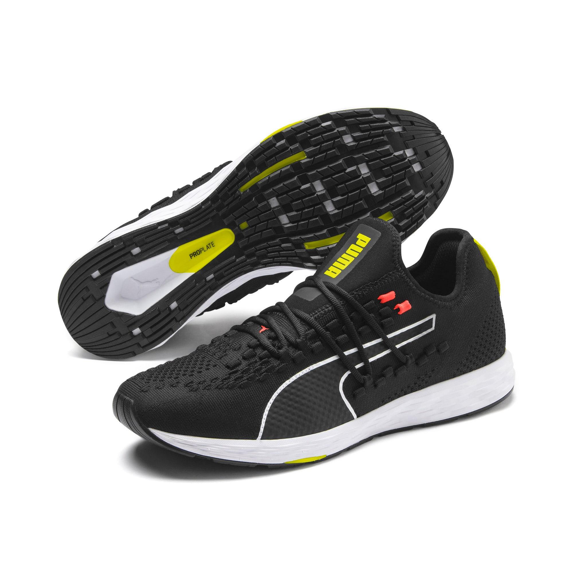 Thumbnail 3 of SPEED RACER Running Shoes, Black-Nrgy Red-Yellow Alert, medium
