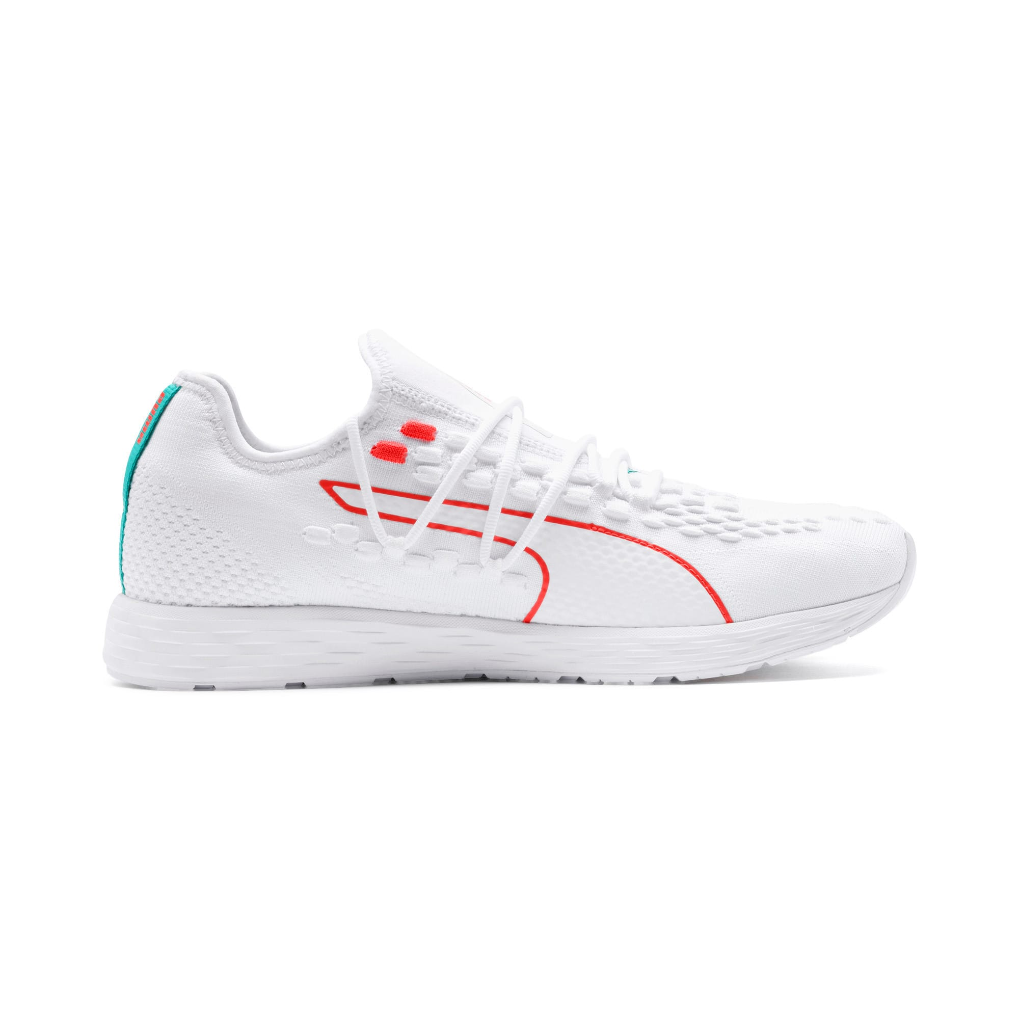 Thumbnail 6 of SPEED RACER Running Shoes, White-Nrgy Red-Turquoise, medium