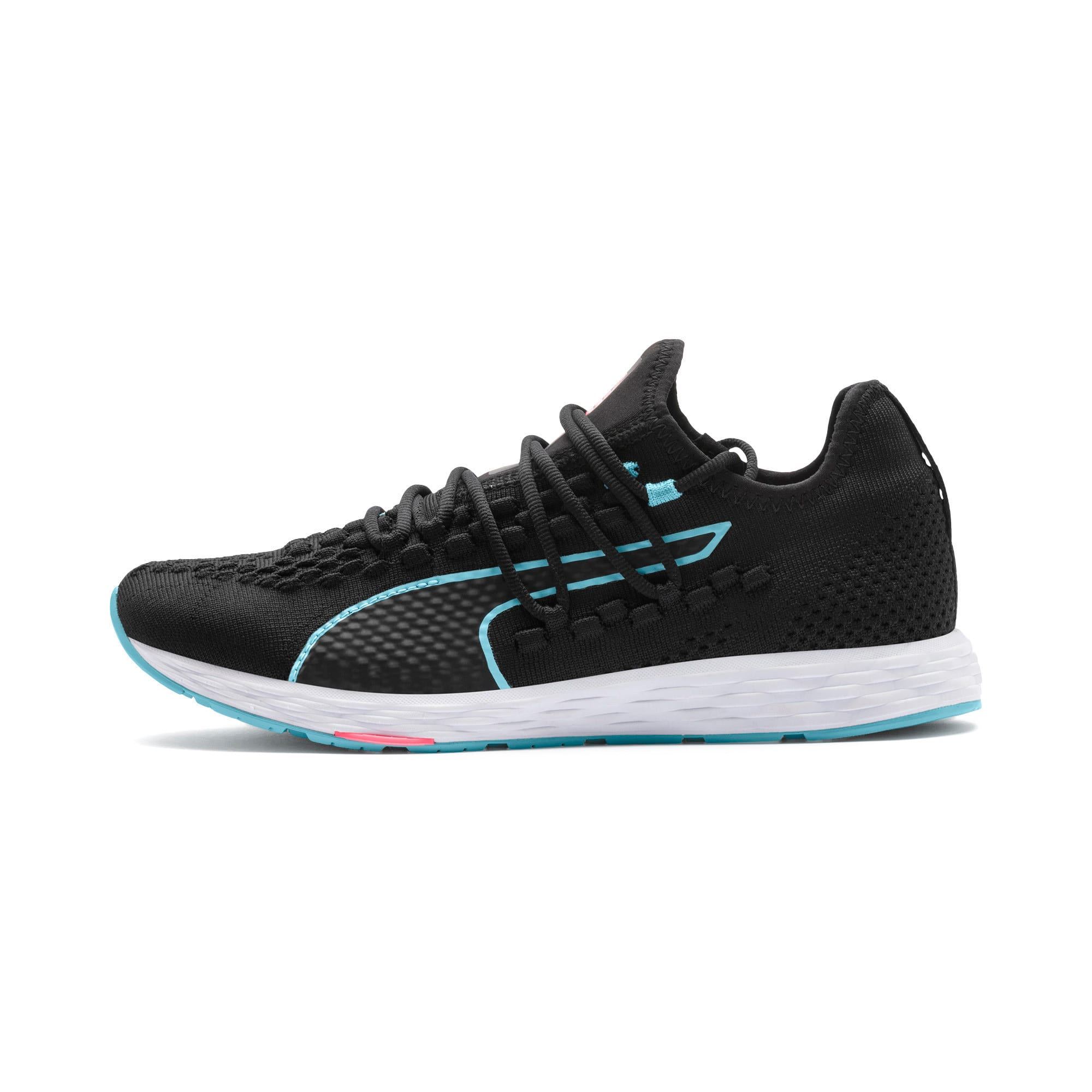 Thumbnail 1 of SPEED RACER Women's Running Shoes, Black-Milky Blue-Pink Alert, medium