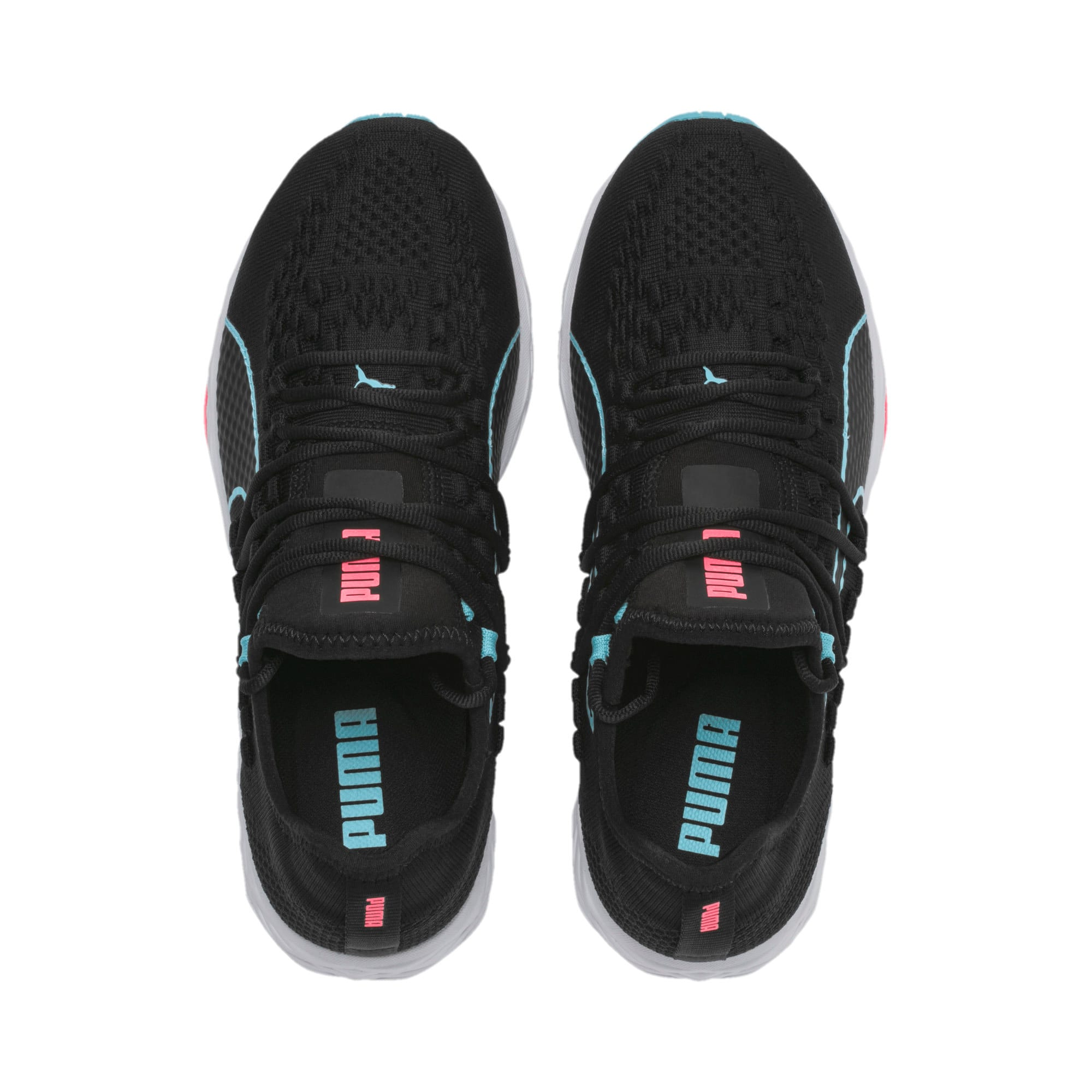 SPEED 300 RACER Women's Running Shoes, Black-Milky Blue-Pink Alert, large