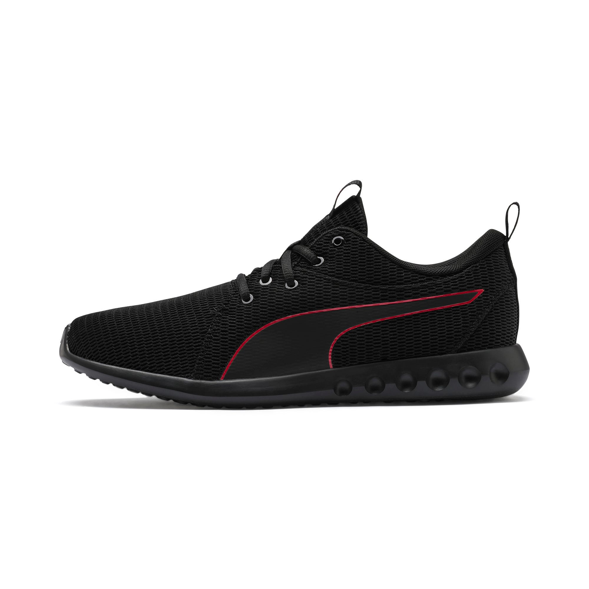 Thumbnail 1 of Carson 2 New Core Men's Running Shoes, Puma Black-High Risk Red, medium