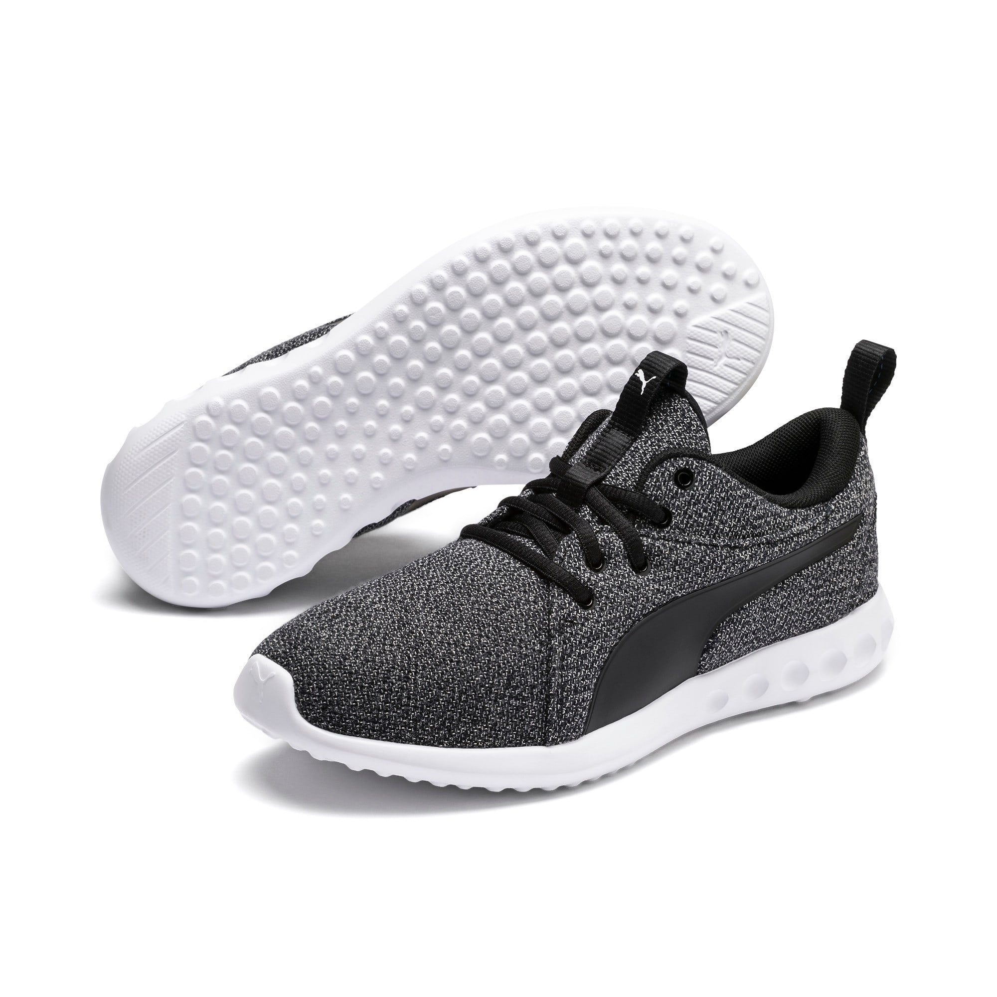 Thumbnail 2 of Carson 2 Knit Damen Sneaker, Puma Black-Puma White, medium