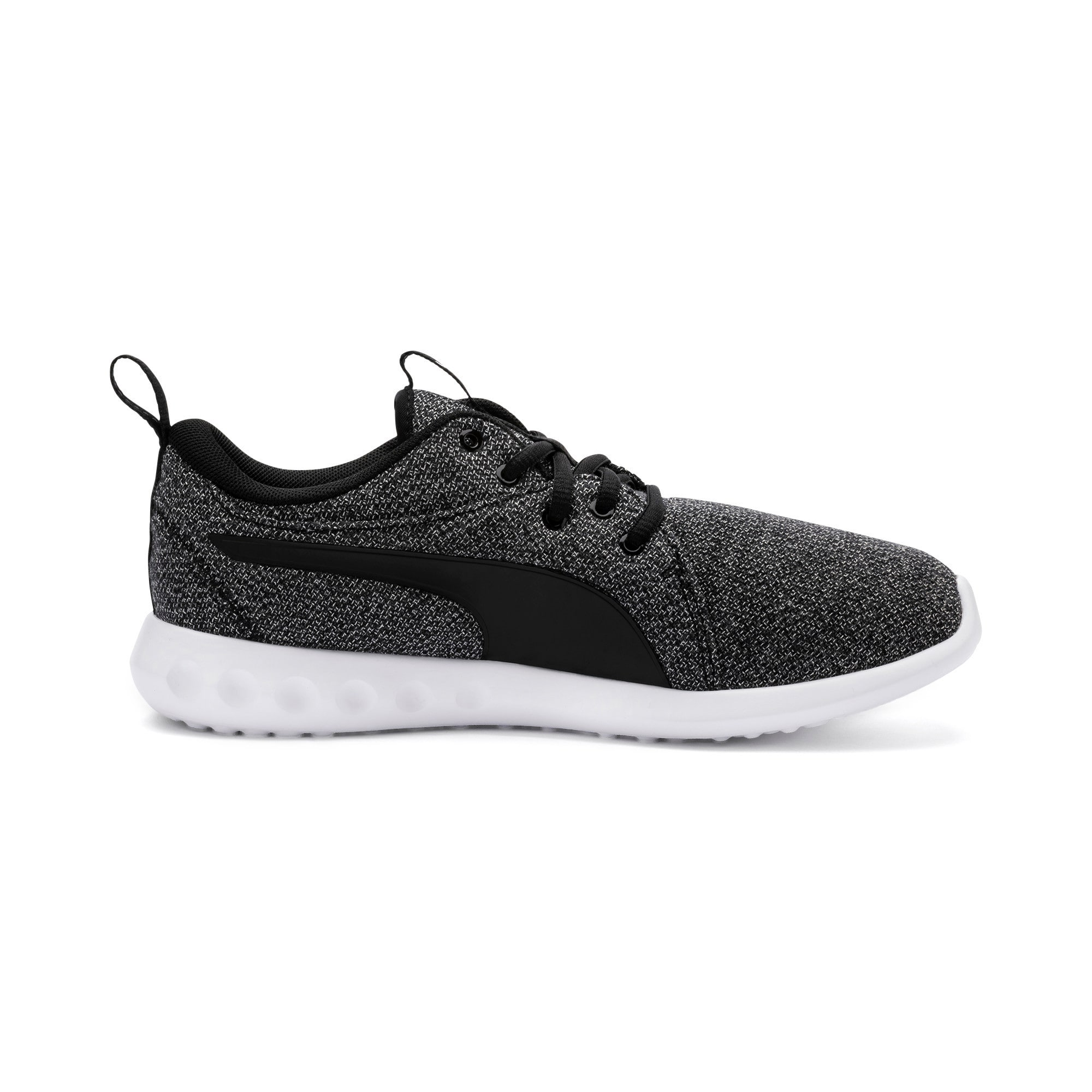 Thumbnail 5 of Carson 2 Knit Damen Sneaker, Puma Black-Puma White, medium
