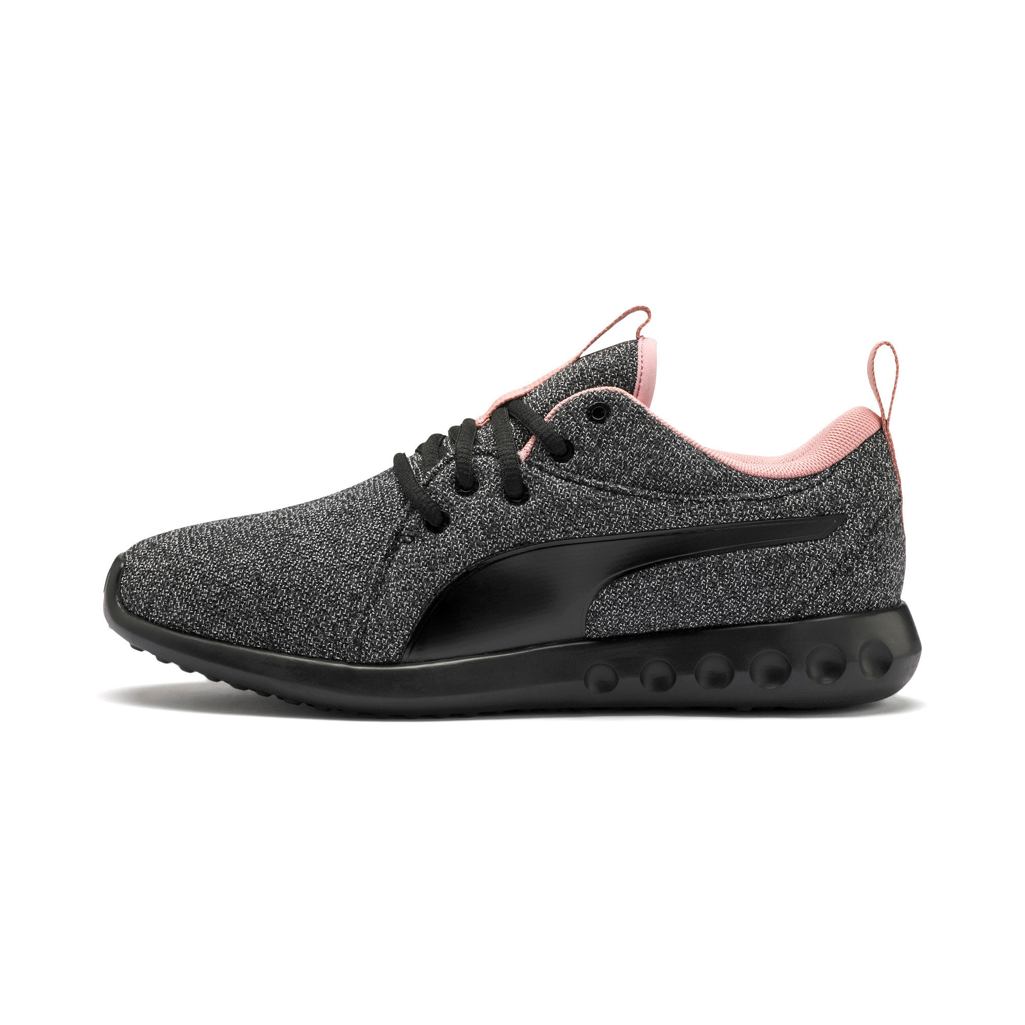 Thumbnail 1 of Carson 2 Knit Women's Running Shoes, Puma Black-White-Bridal Rose, medium