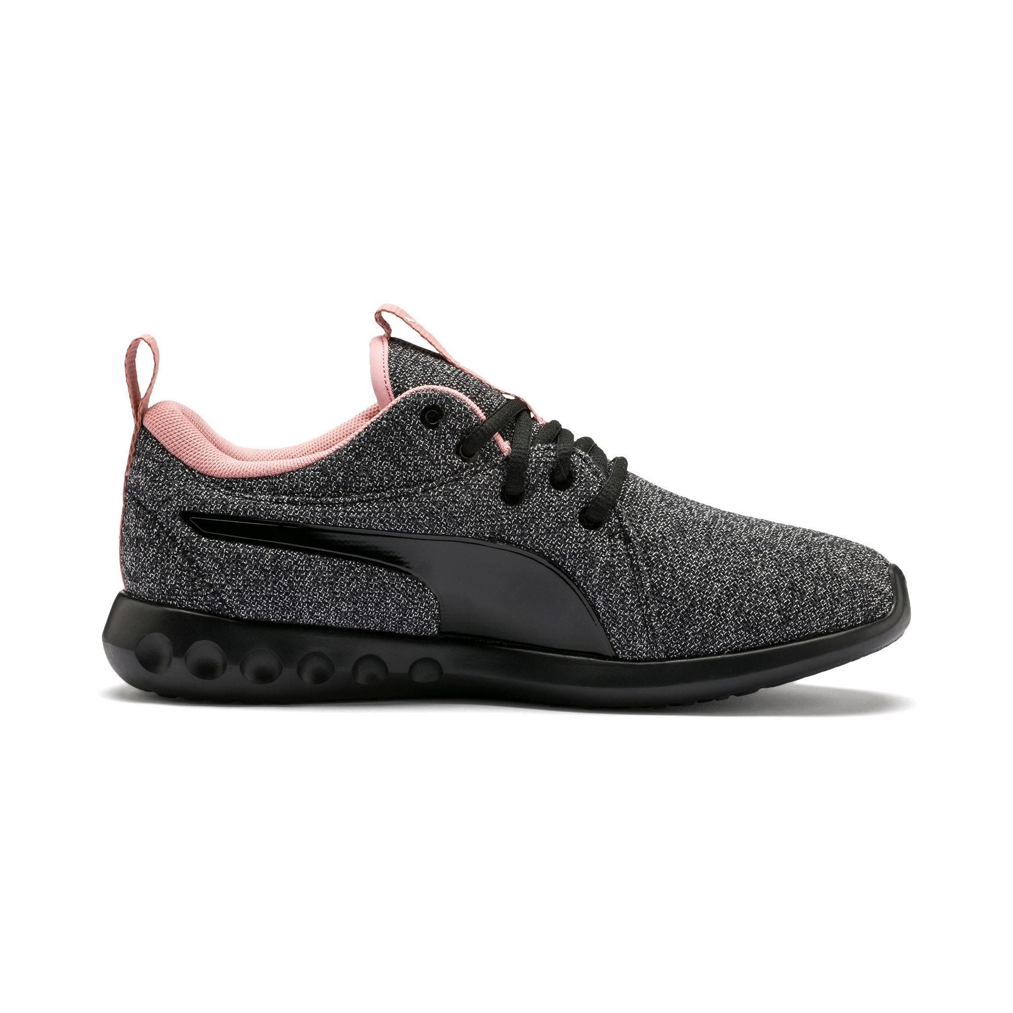 Thumbnail 6 of Carson 2 Knit Women's Running Shoes, Puma Black-White-Bridal Rose, medium