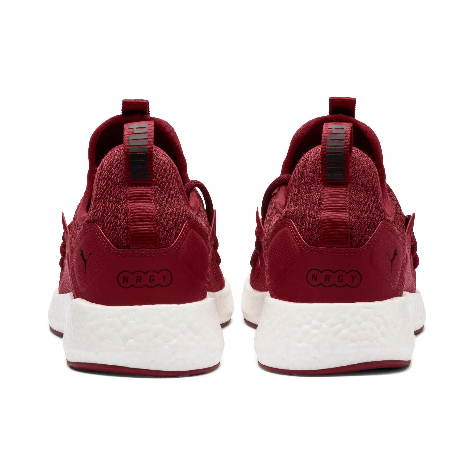 Thumbnail 4 of NRGY Neko Knit Men's Running Shoes, Pomegranate-Puma Black, medium