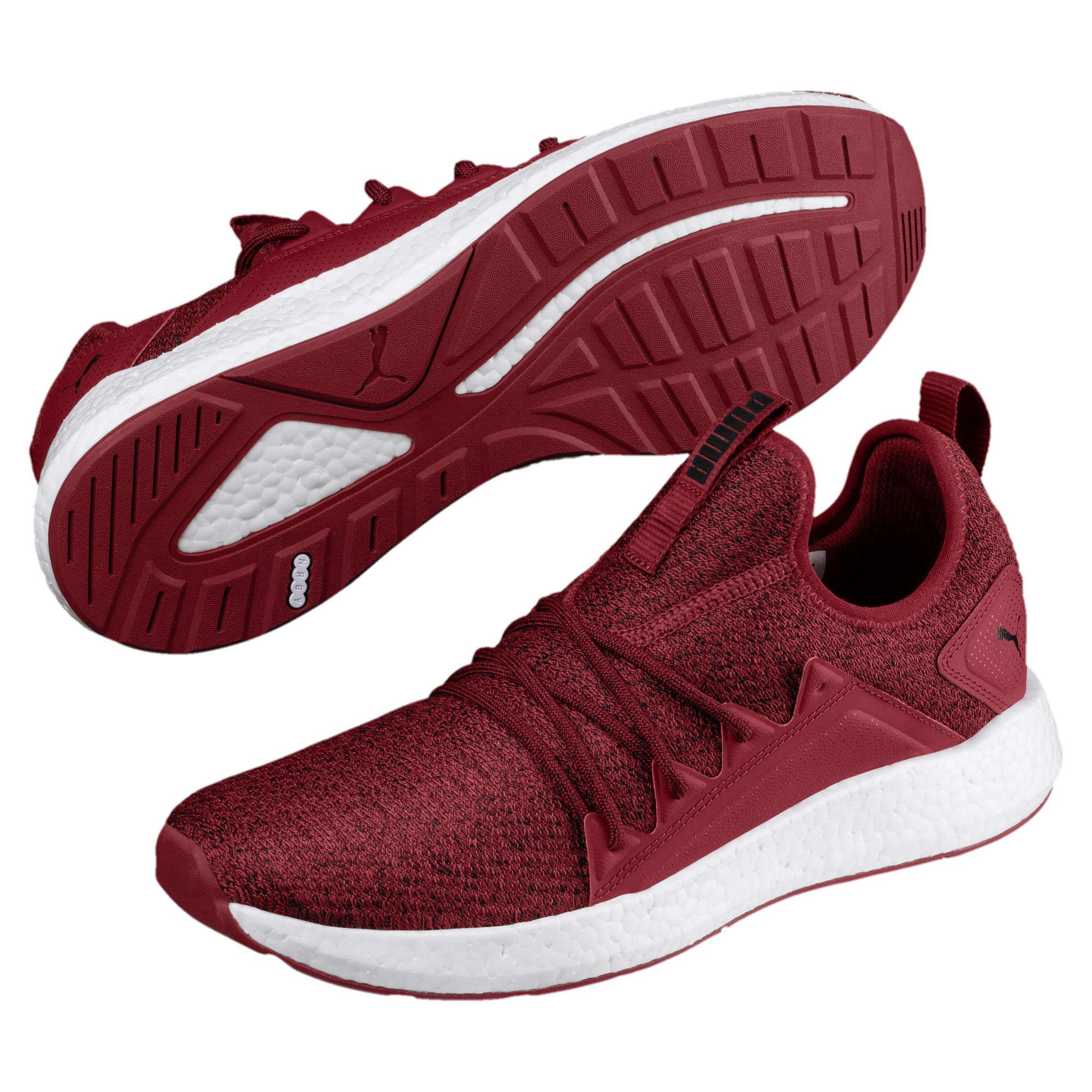Thumbnail 2 of NRGY Neko Knit Men's Running Shoes, Pomegranate-Puma Black, medium