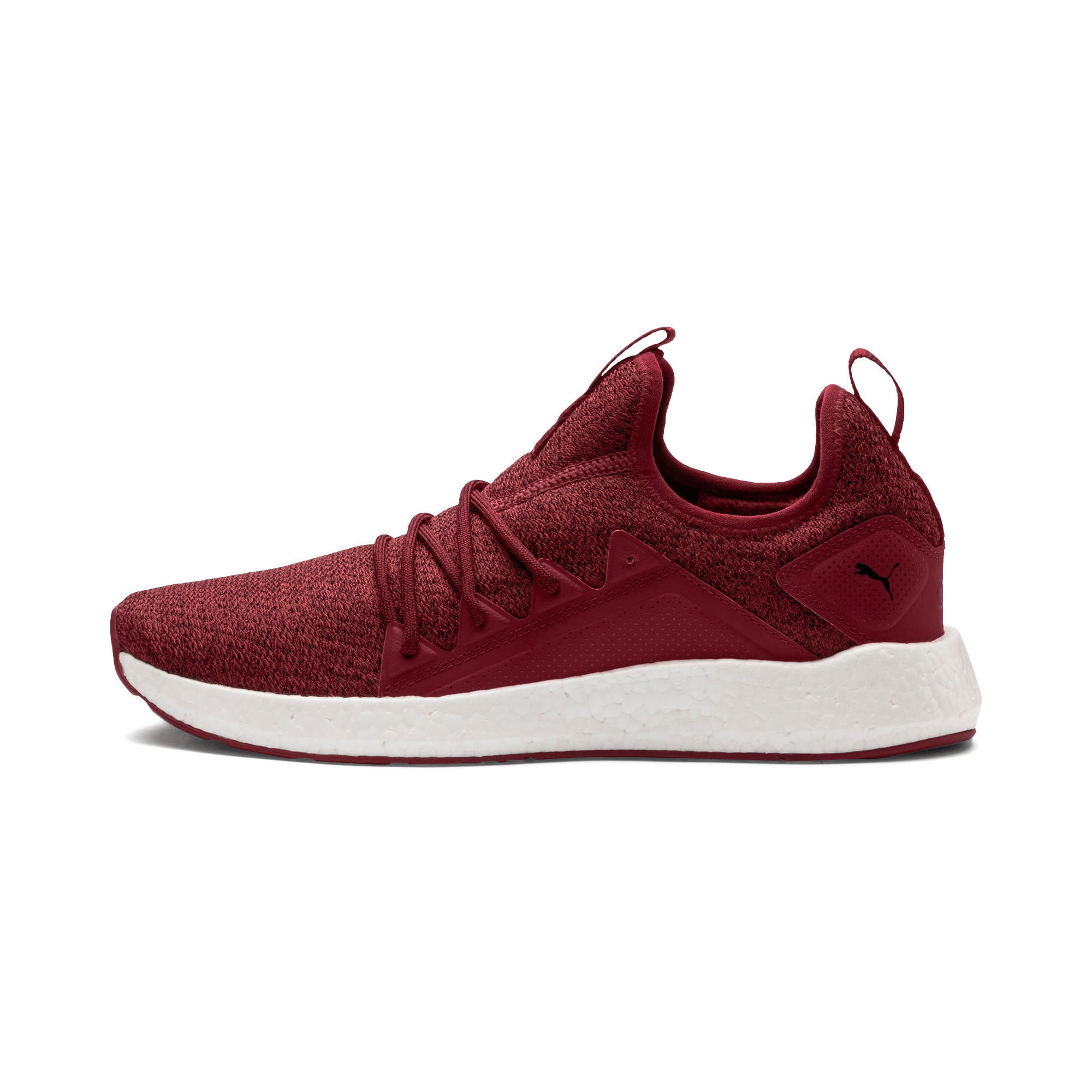 Thumbnail 1 of NRGY Neko Knit Men's Running Shoes, Pomegranate-Puma Black, medium