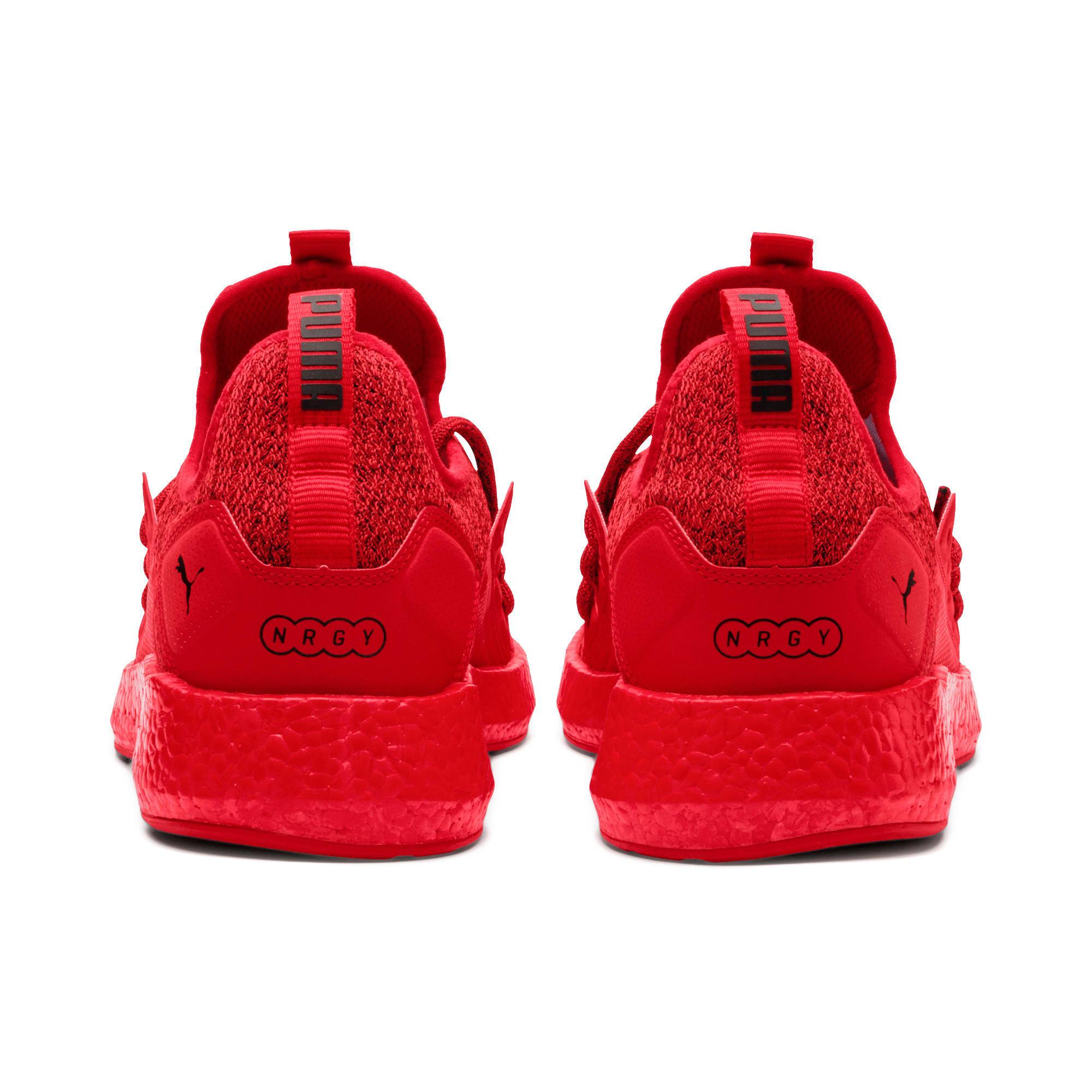 Thumbnail 4 of NRGY Neko Knit Men's Running Shoes, High Risk Red-Puma Black, medium