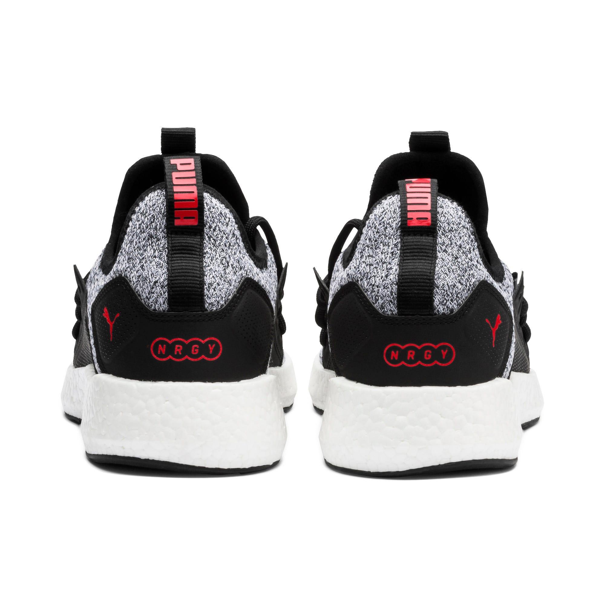 Thumbnail 4 of NRGY Neko Knit Men's Running Shoes, Puma Black-High Risk Red, medium