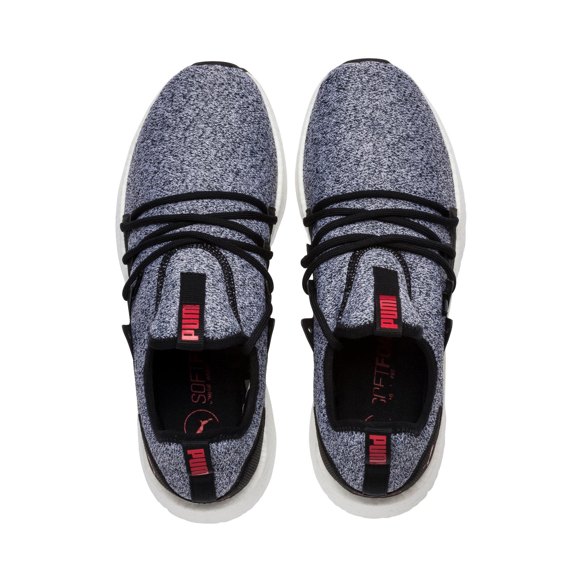 Thumbnail 6 of NRGY Neko Knit Men's Running Shoes, Puma Black-High Risk Red, medium