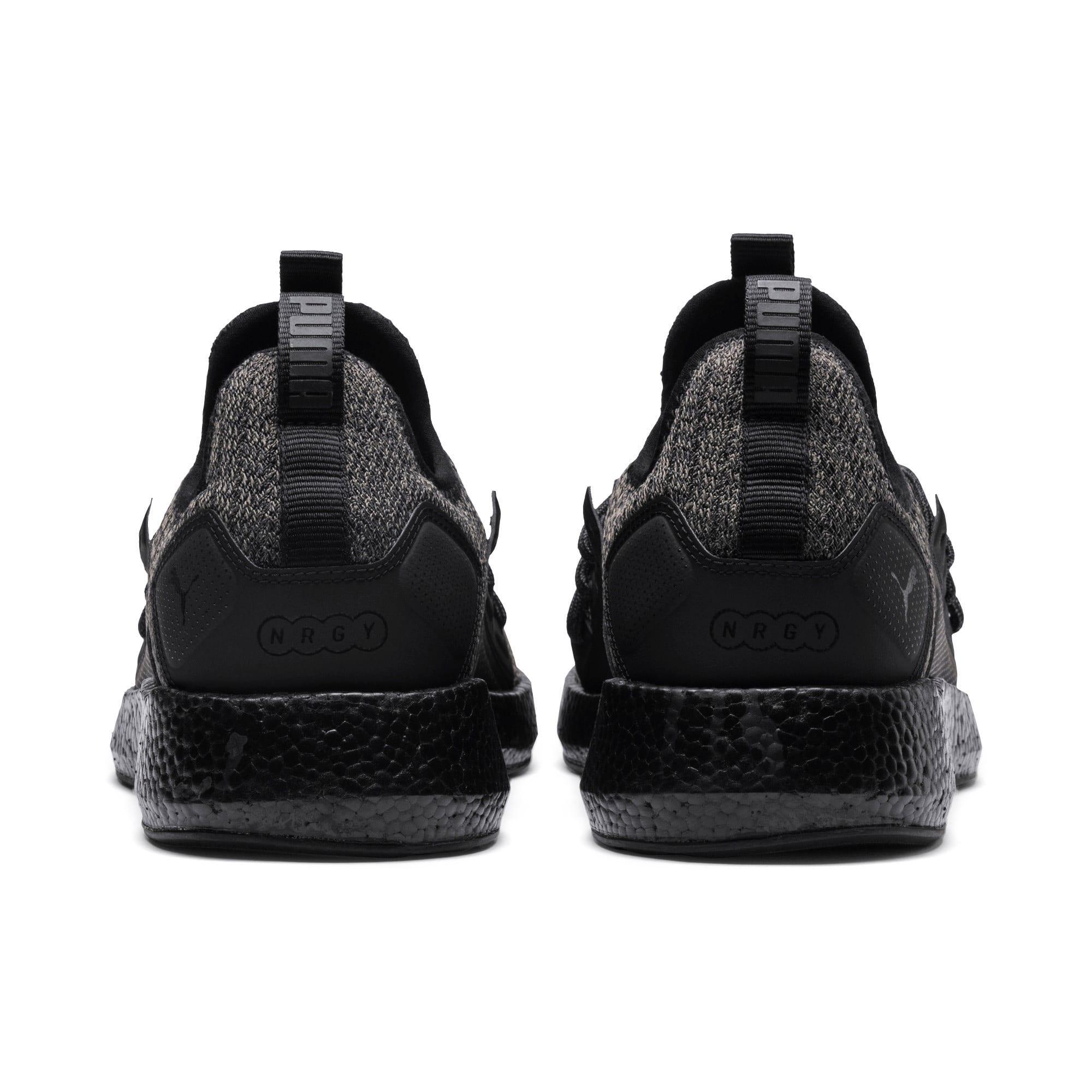 Thumbnail 3 of NRGY Neko Knit Men's Running Shoes, Puma Black-Puma Black, medium