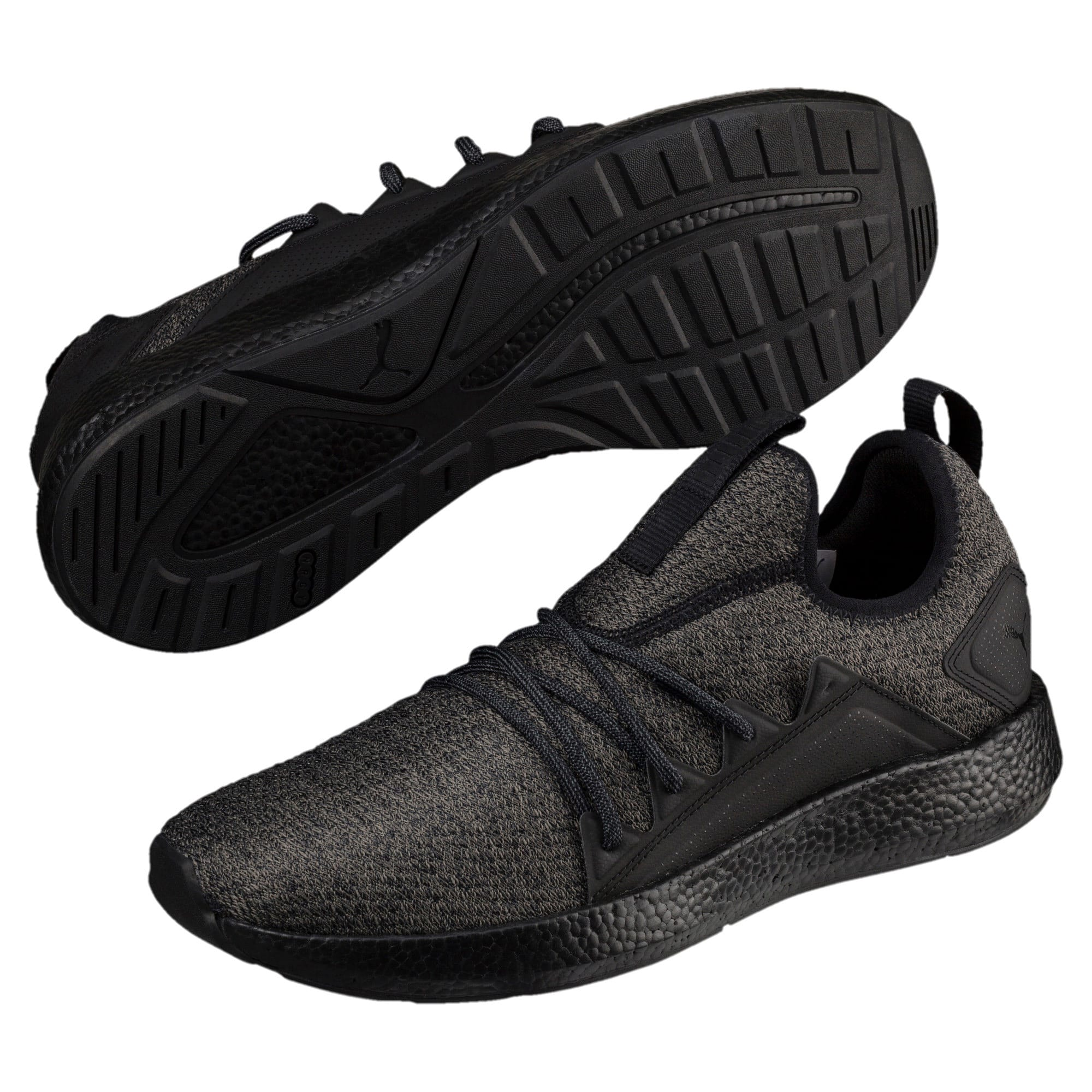 Thumbnail 2 of NRGY Neko Knit Men's Running Shoes, Puma Black-Puma Black, medium