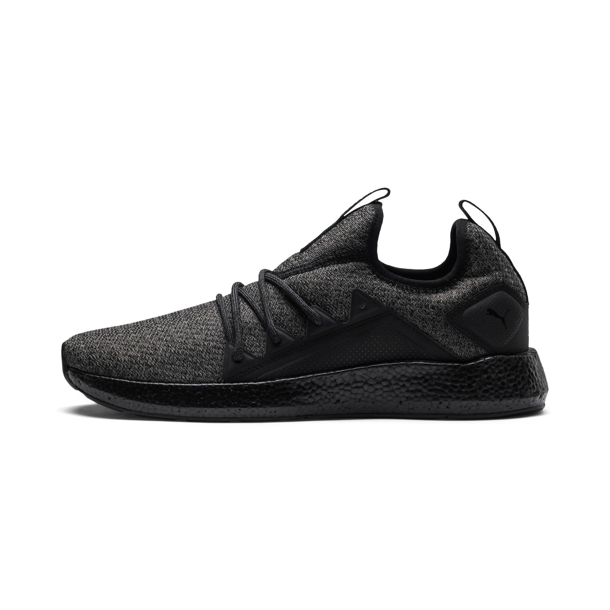 Thumbnail 1 of NRGY Neko Knit Men's Running Shoes, Puma Black-Puma Black, medium
