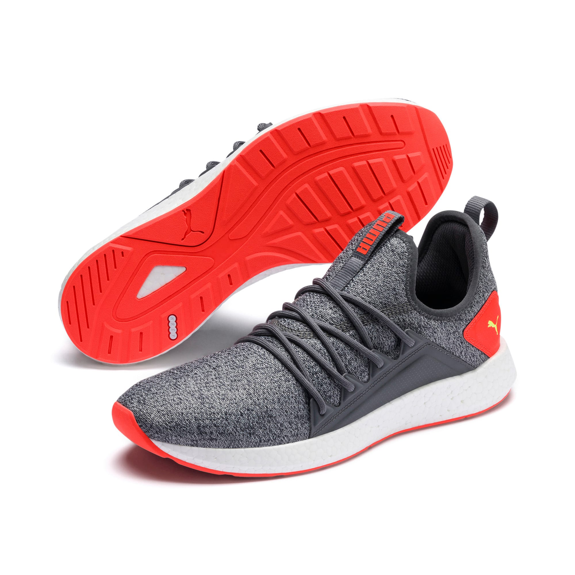 Thumbnail 3 of NRGY Neko Knit Men's Running Shoes, CASTLEROCK-Nrgy Red, medium