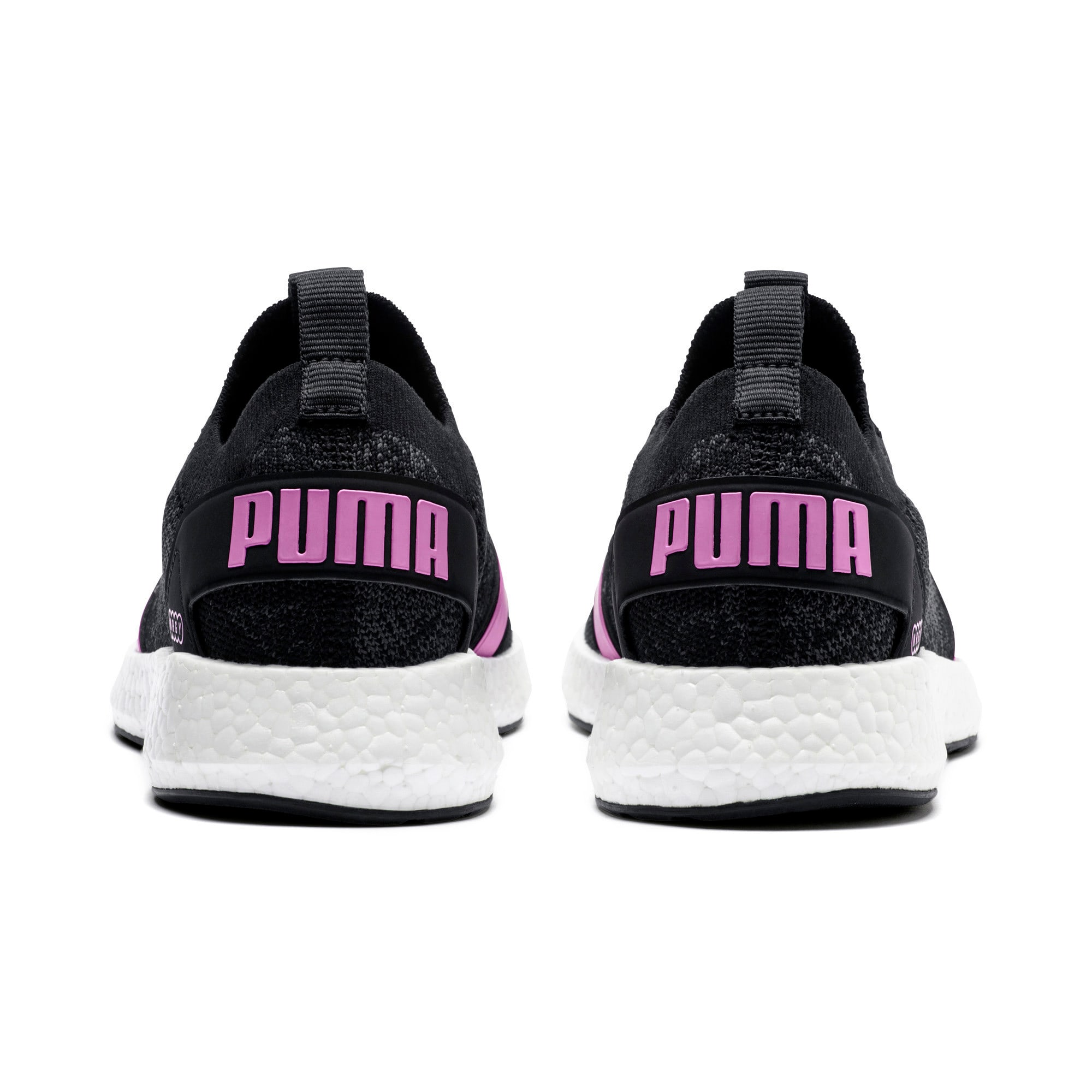 Thumbnail 4 of NRGY Neko Engineer Knit Women's Running Shoes, Puma Black-Iron Gate-Orchid, medium