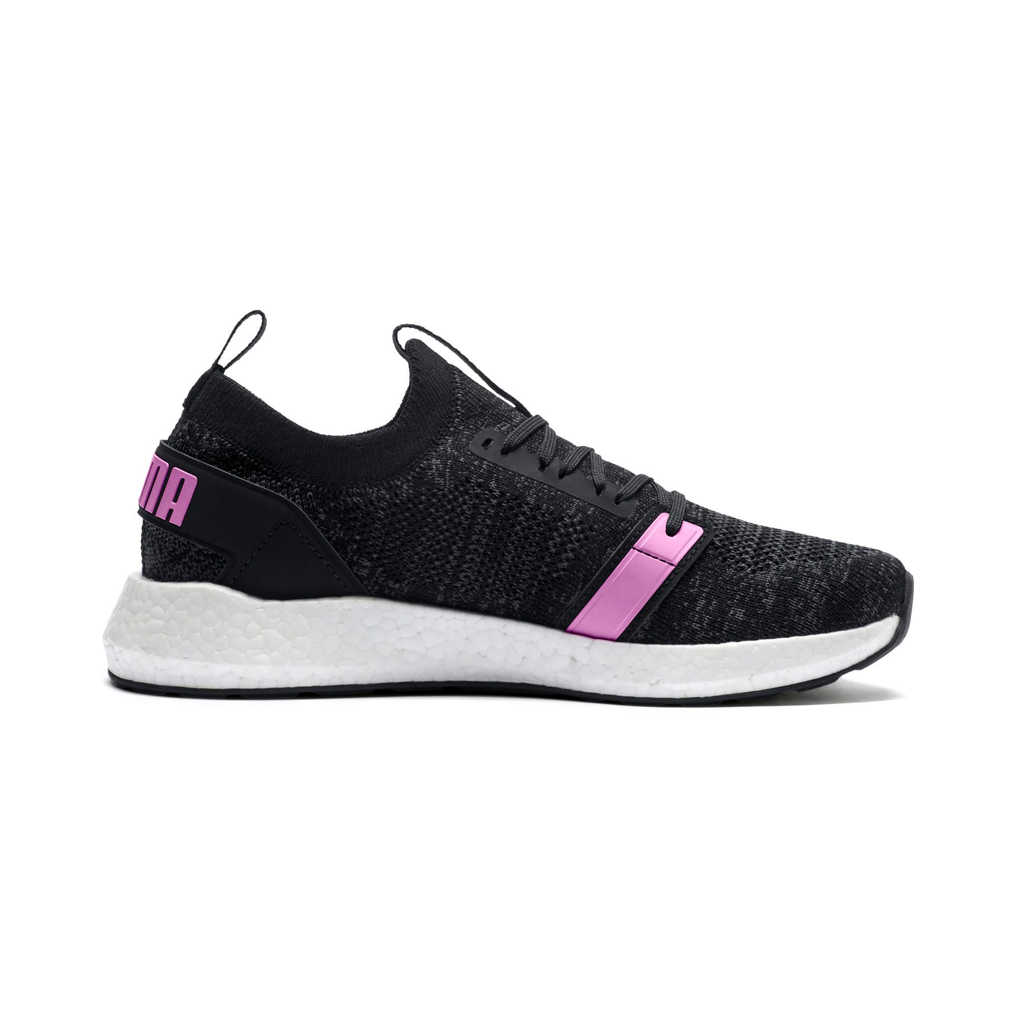 Thumbnail 5 of NRGY Neko Engineer Knit Women's Running Shoes, Puma Black-Iron Gate-Orchid, medium