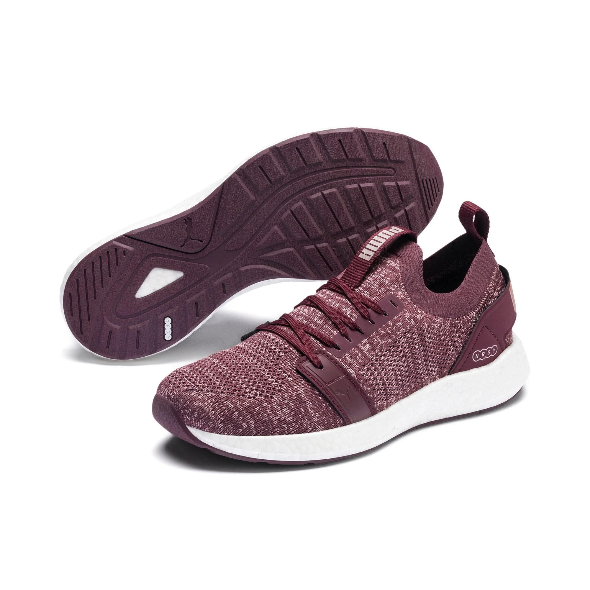 Thumbnail 3 of NRGY Neko Engineer Knit Women's Running Shoes, Vineyard Wine-Rose-White, medium