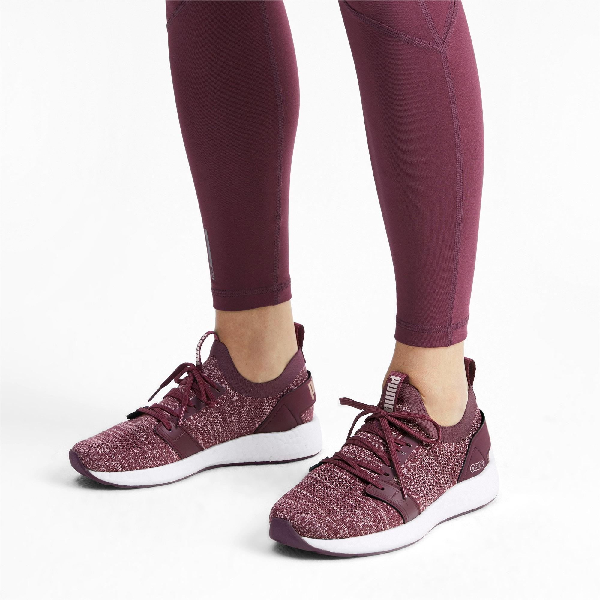 Thumbnail 2 of NRGY Neko Engineer Knit Women's Running Shoes, Vineyard Wine-Rose-White, medium