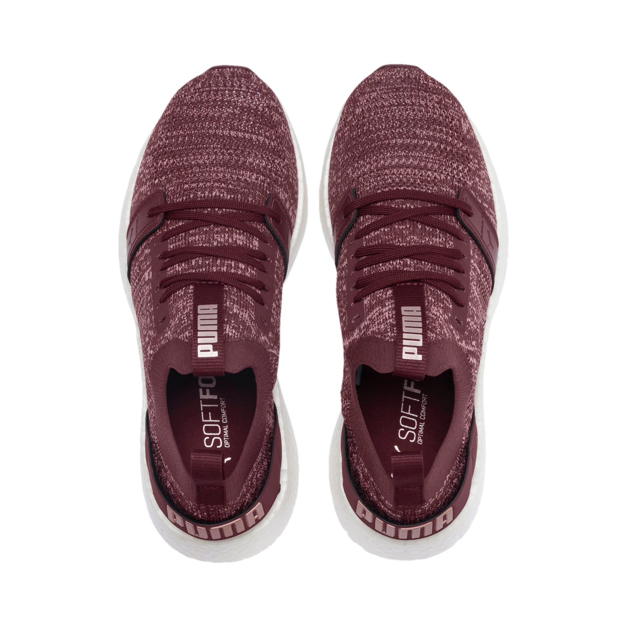 Thumbnail 7 of NRGY Neko Engineer Knit Women's Running Shoes, Vineyard Wine-Rose-White, medium