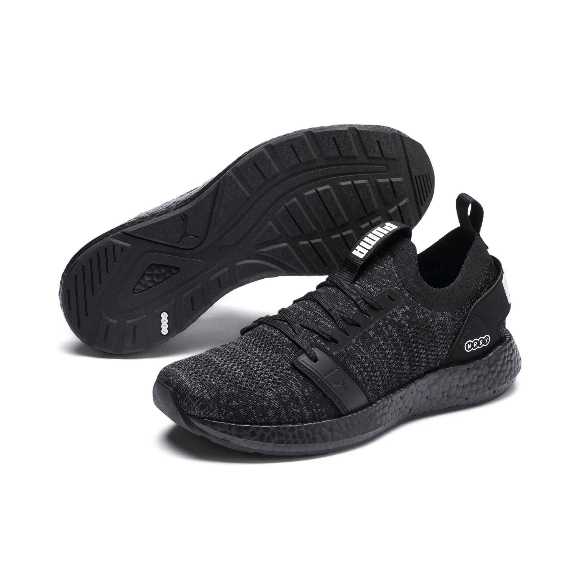 Thumbnail 2 of NRGY Neko Engineer Knit Women's Running Shoes, Puma Black-Puma Black, medium
