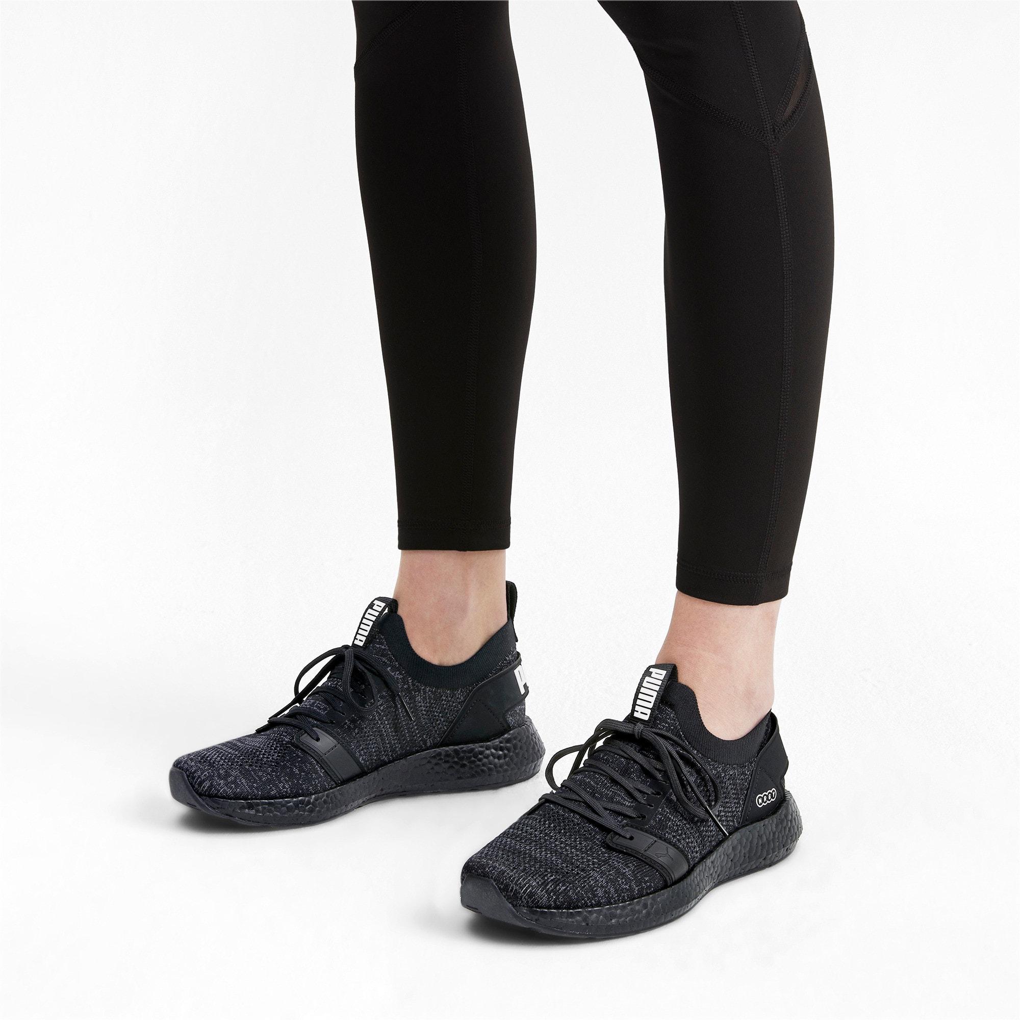 Thumbnail 3 of NRGY Neko Engineer Knit Women's Running Shoes, Puma Black-Puma Black, medium