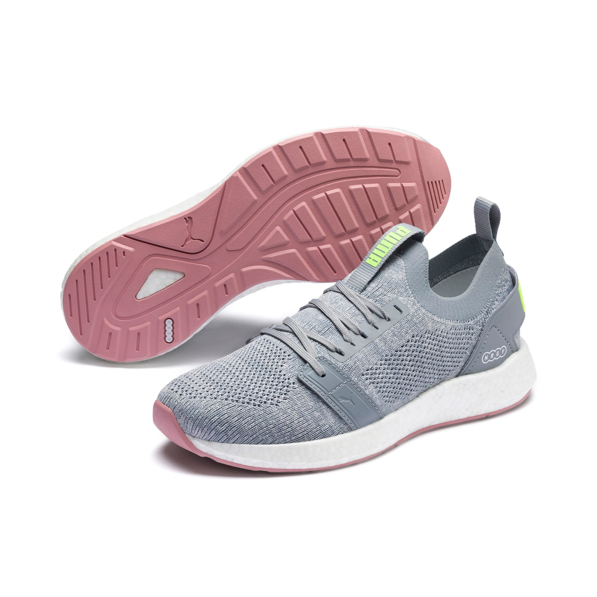 Thumbnail 3 of NRGY Neko Engineer Knit Women's Running Shoes, Quarry-Bridal Rose, medium