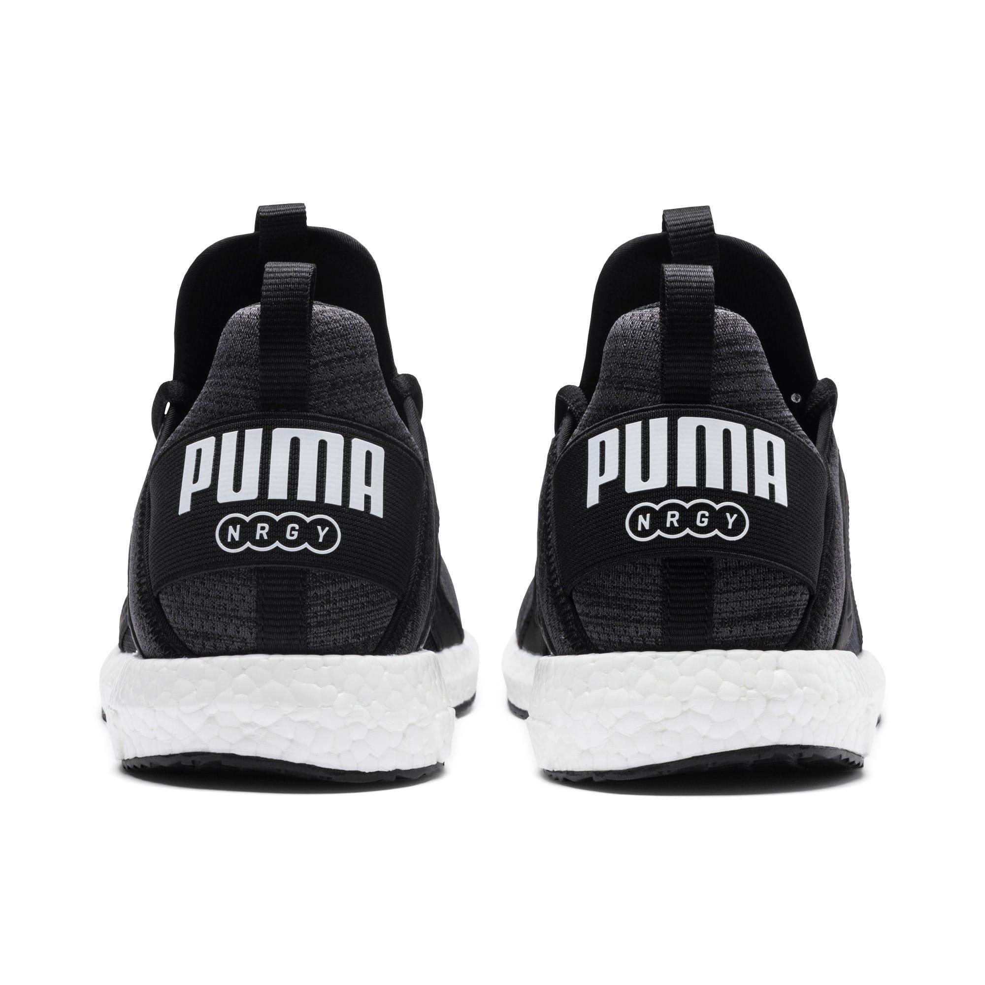 Miniatura 4 de Zapatos para correr Mega NRGY  Heather Knit para hombre, Puma Black-Iron Gate-Blanco, mediano