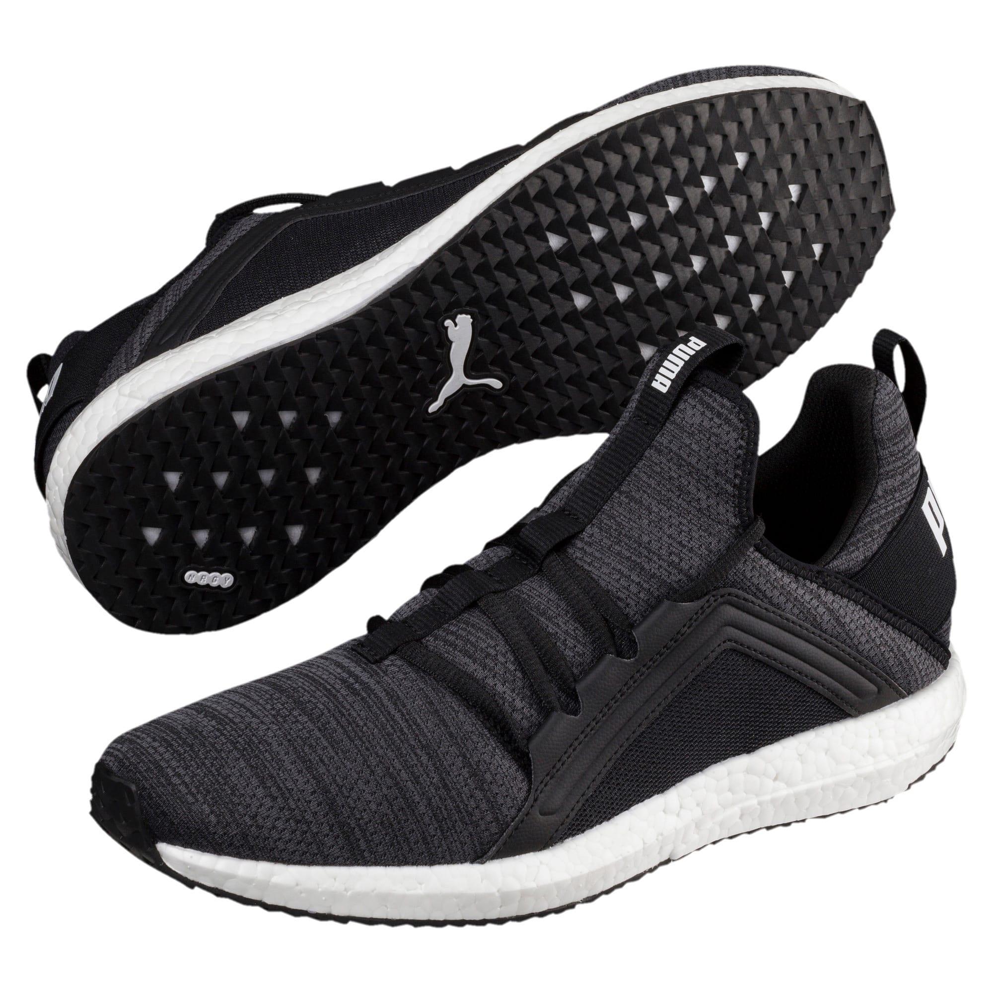 Miniatura 2 de Zapatos para correr Mega NRGY  Heather Knit para hombre, Puma Black-Iron Gate-Blanco, mediano