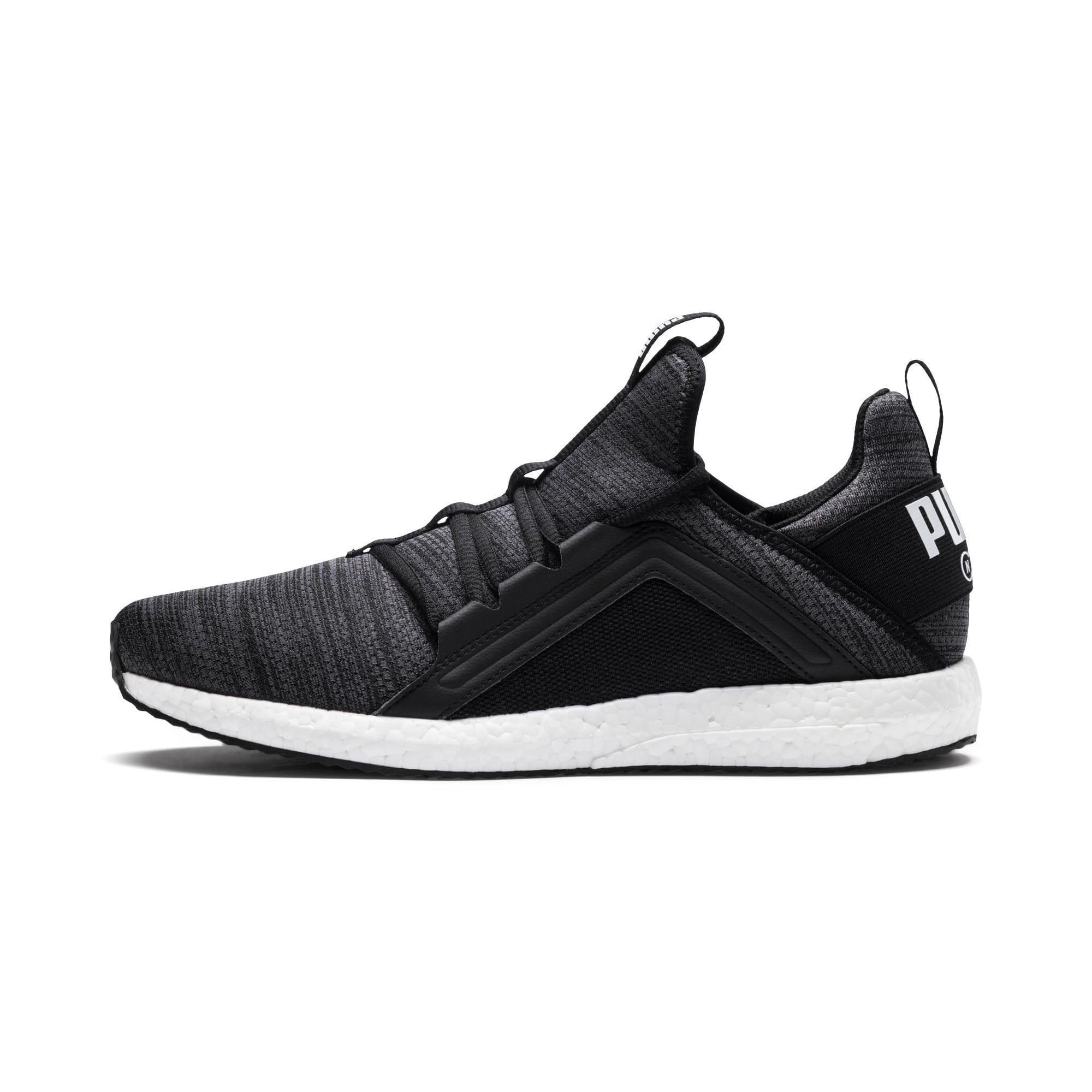 Miniatura 1 de Zapatos para correr Mega NRGY  Heather Knit para hombre, Puma Black-Iron Gate-Blanco, mediano