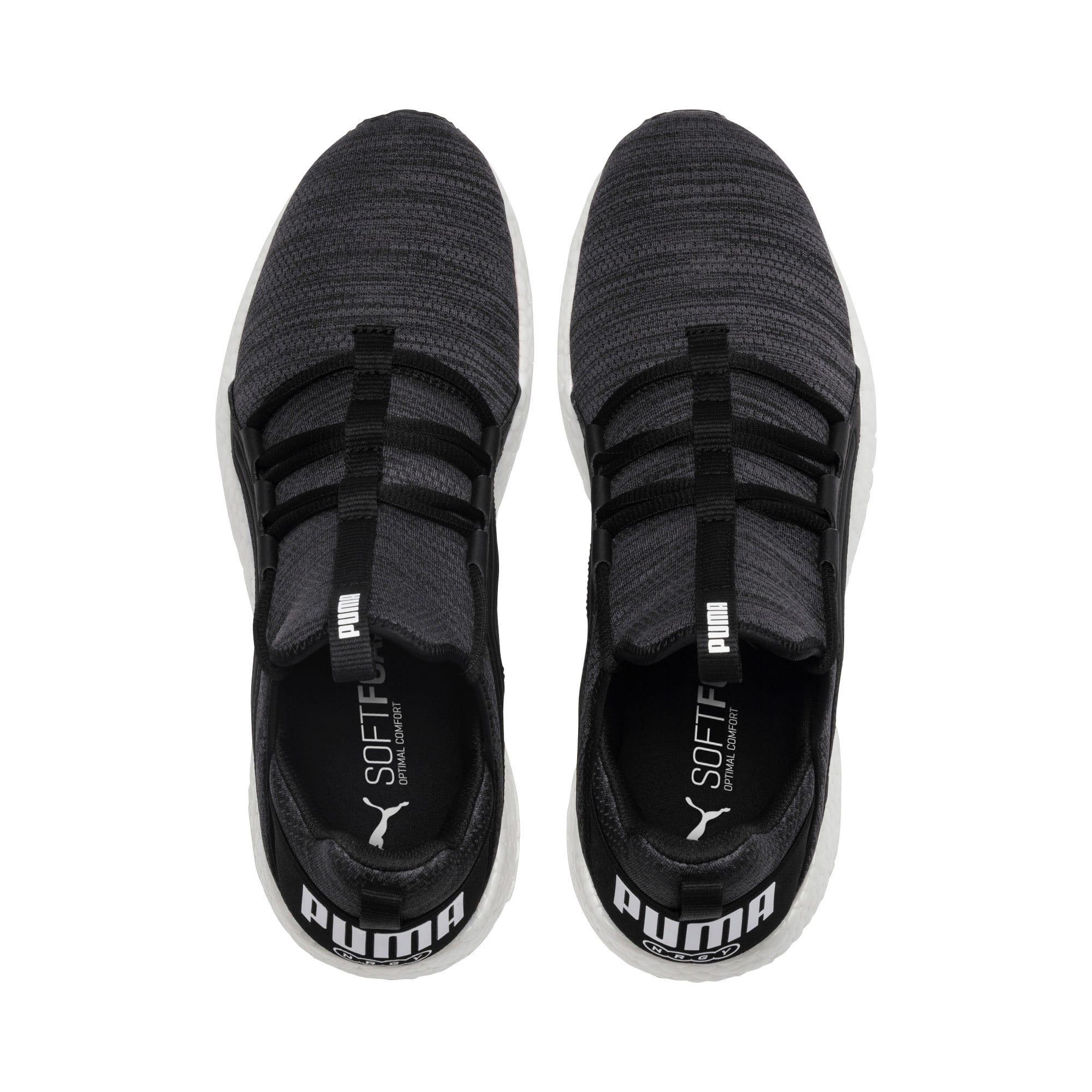 Miniatura 6 de Zapatos para correr Mega NRGY  Heather Knit para hombre, Puma Black-Iron Gate-Blanco, mediano