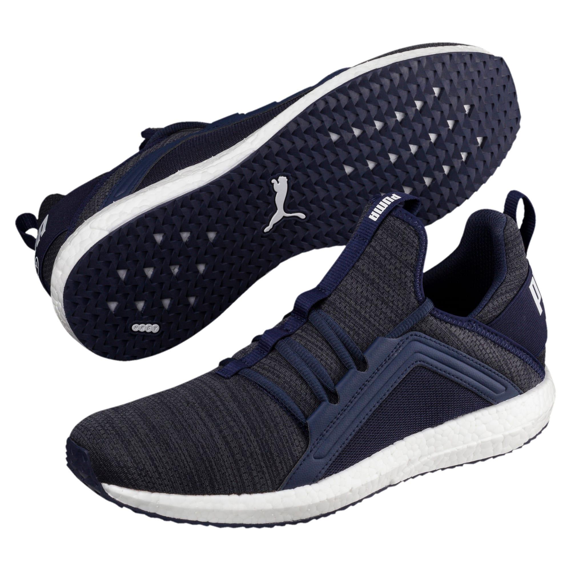 Miniatura 2 de Zapatos para correr Mega NRGY  Heather Knit para hombre, Peacoat-Iron Gate-Blanco, mediano
