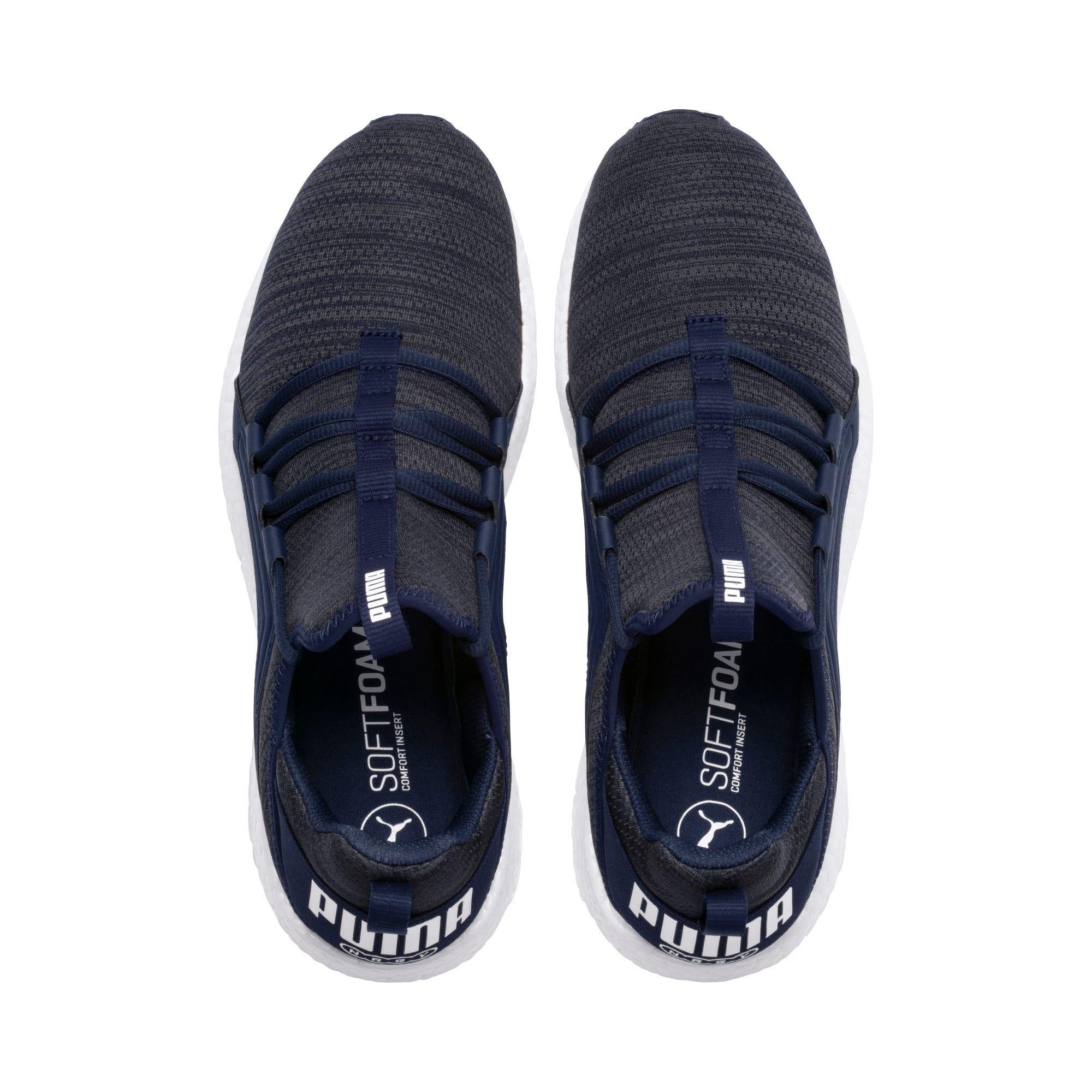 Miniatura 6 de Zapatos para correr Mega NRGY  Heather Knit para hombre, Peacoat-Iron Gate-Blanco, mediano