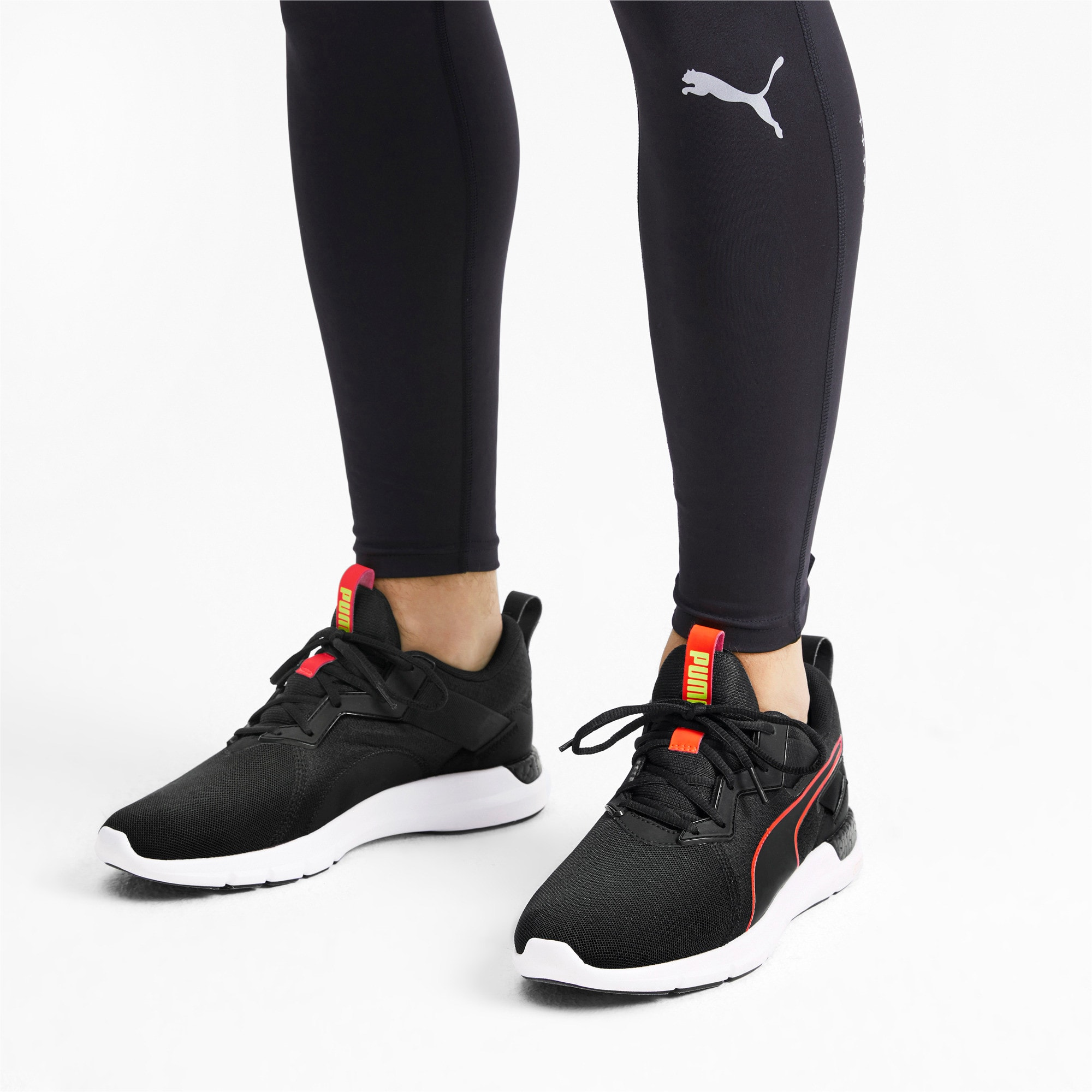 Thumbnail 3 of NRGY Dynamo Futuro Men's Running Shoes, Puma Black-Nrgy Red, medium