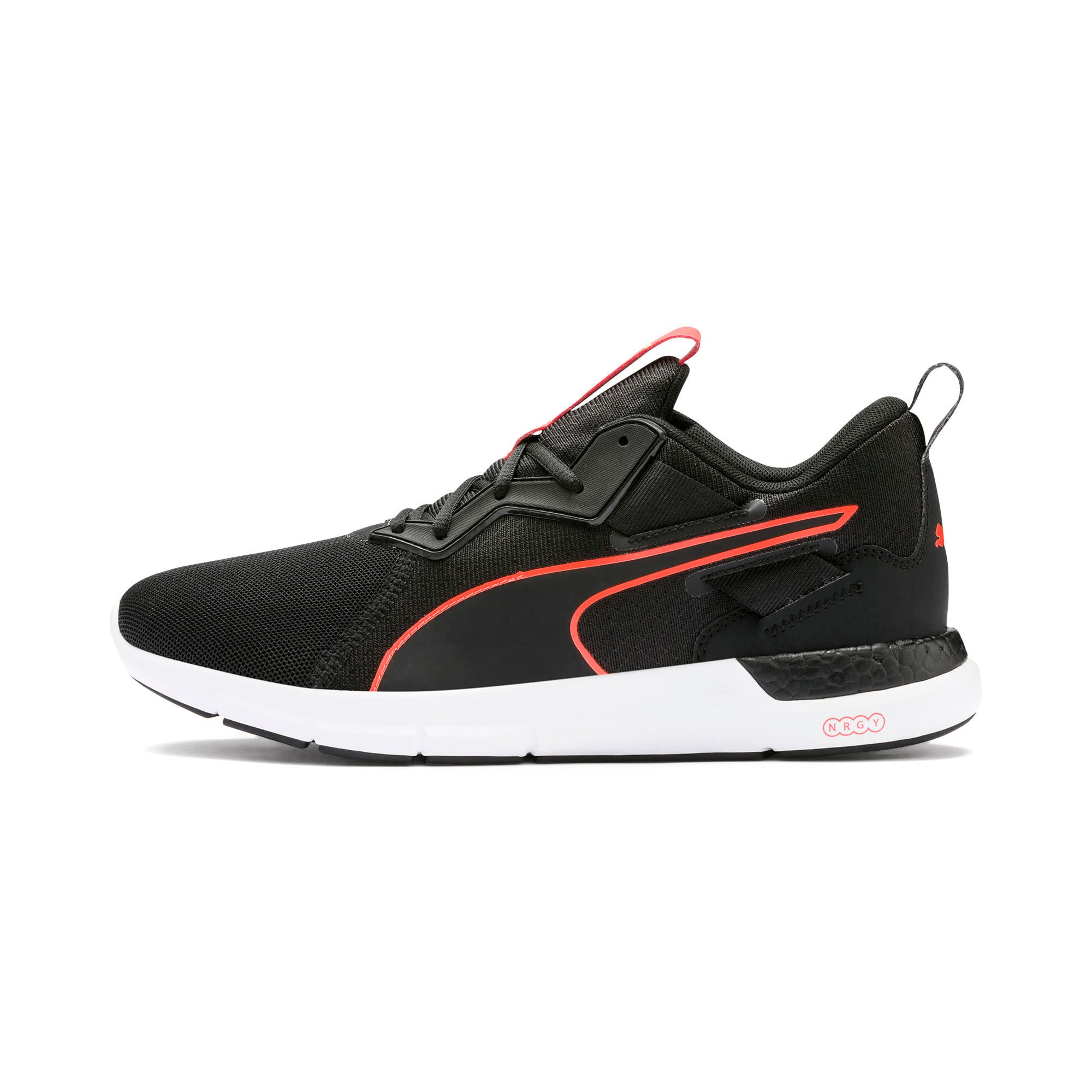 Thumbnail 1 of NRGY Dynamo Futuro Men's Running Shoes, Puma Black-Nrgy Red, medium