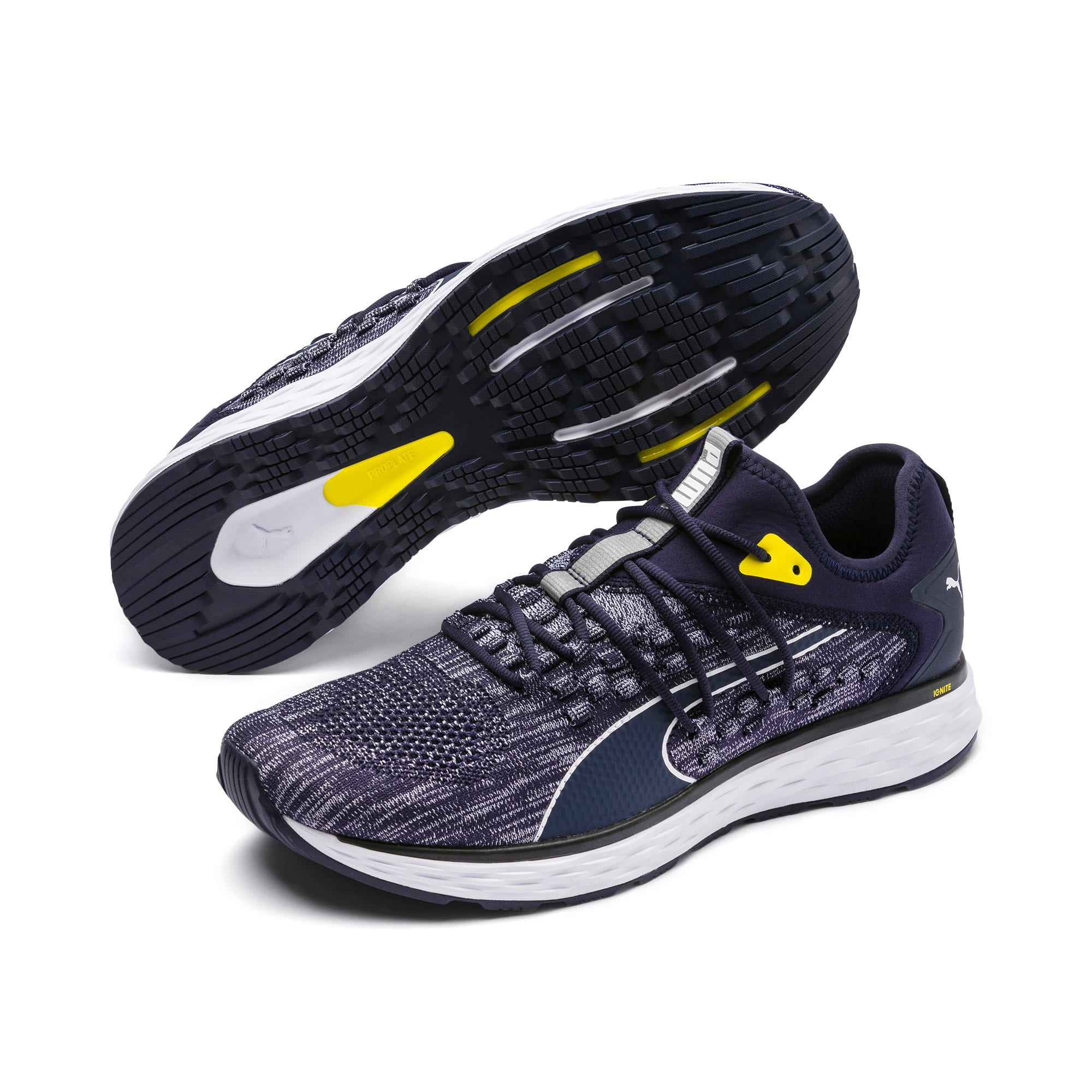 Thumbnail 3 of SPEED FUSEFIT Men's Running Shoes, Peacoat-White-Blazing Yellow, medium