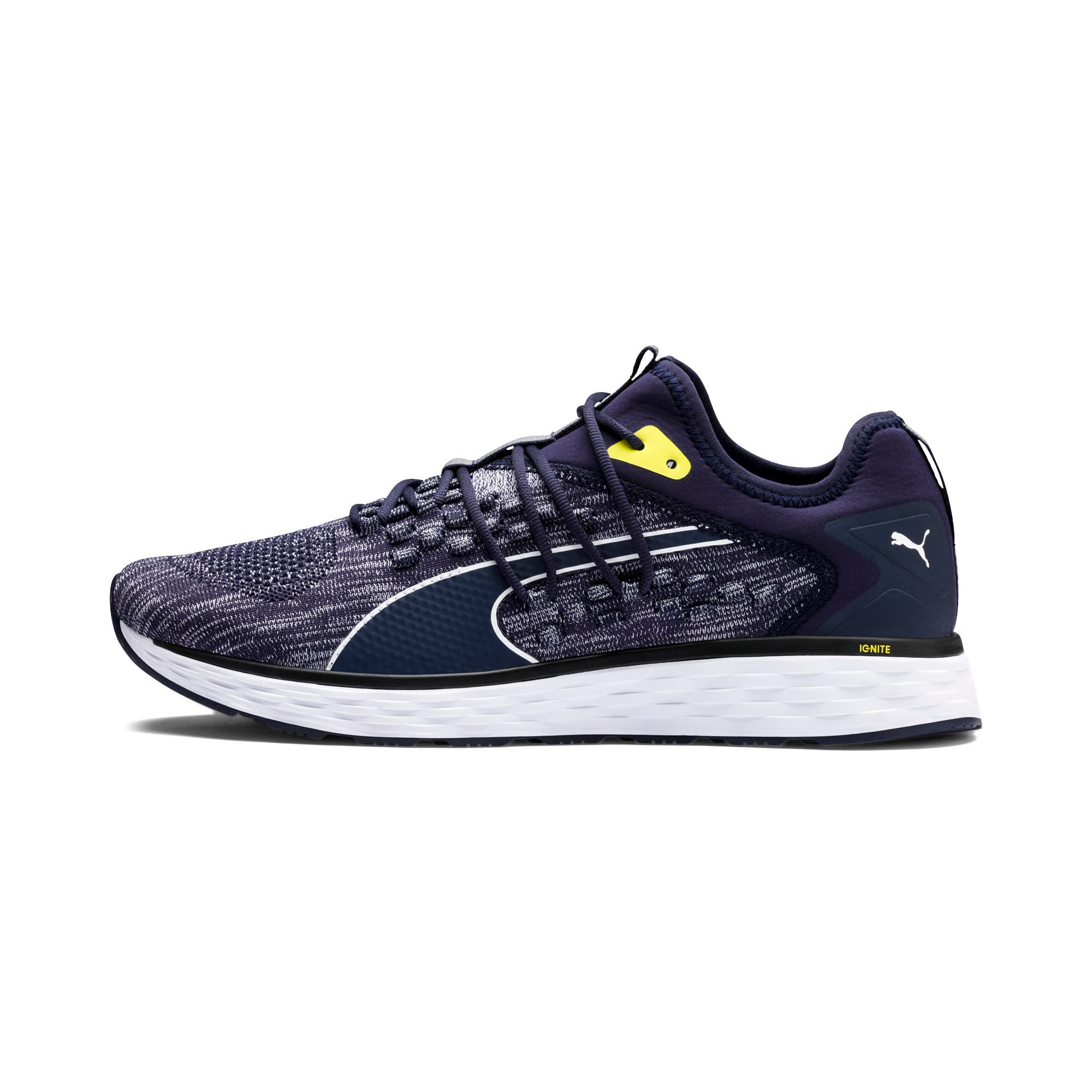 Thumbnail 1 of SPEED FUSEFIT Men's Running Shoes, Peacoat-White-Blazing Yellow, medium
