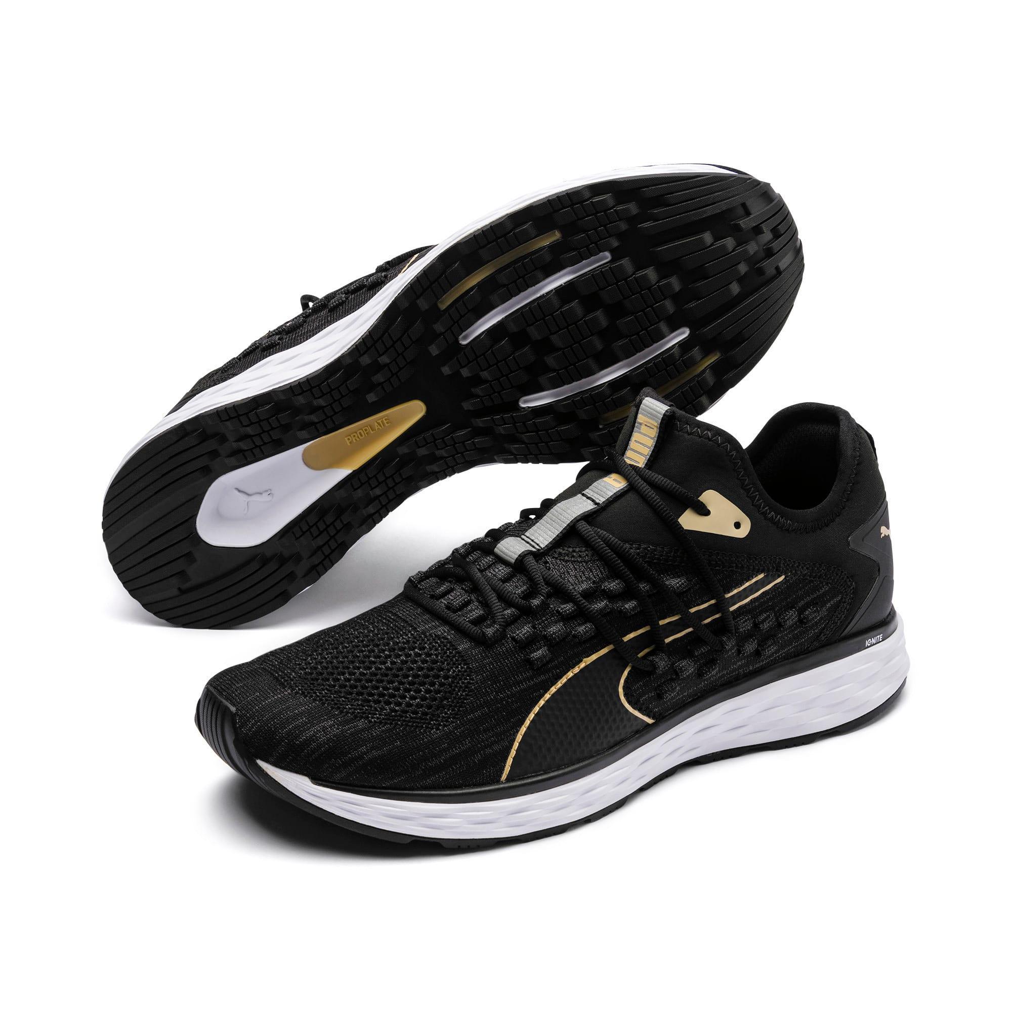 Thumbnail 3 of SPEED FUSEFIT Men's Running Shoes, Black-White-Taos Taupe, medium