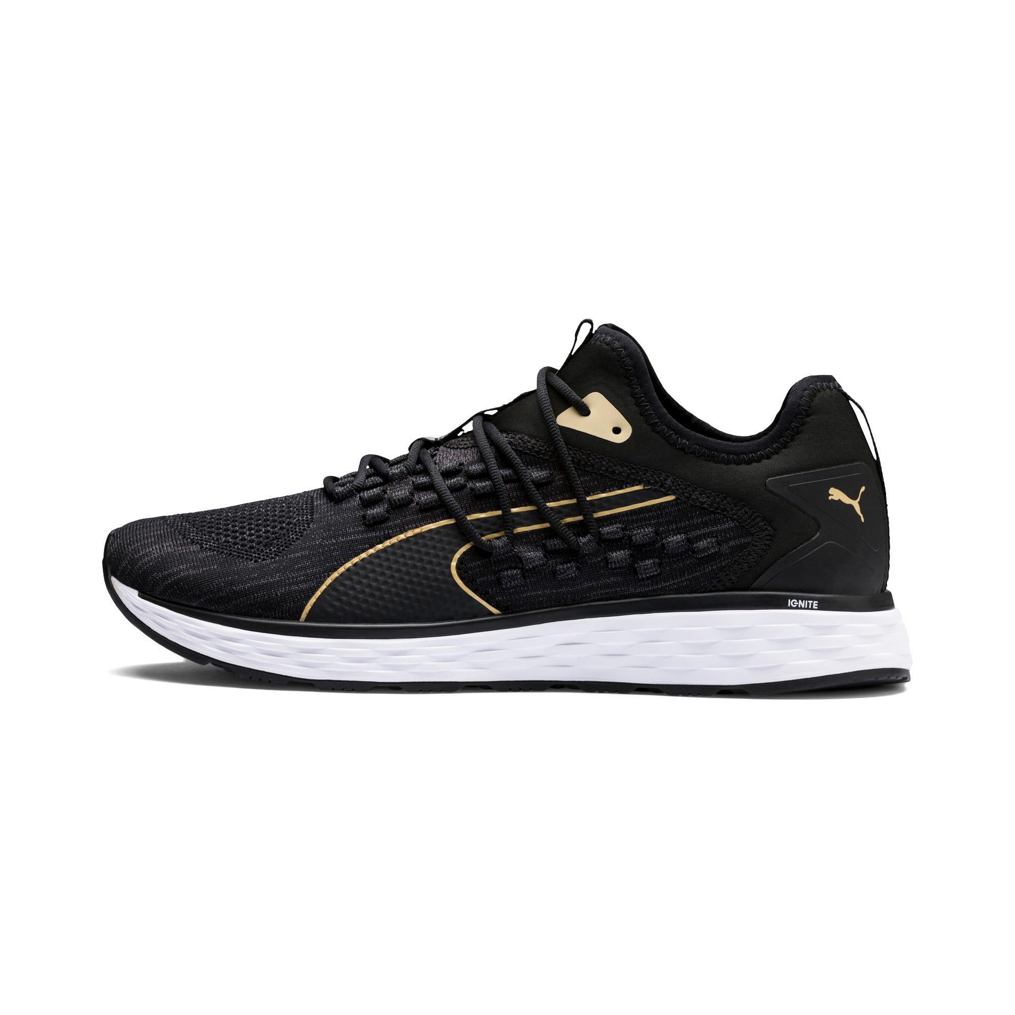 Thumbnail 1 of SPEED FUSEFIT Men's Running Shoes, Black-White-Taos Taupe, medium