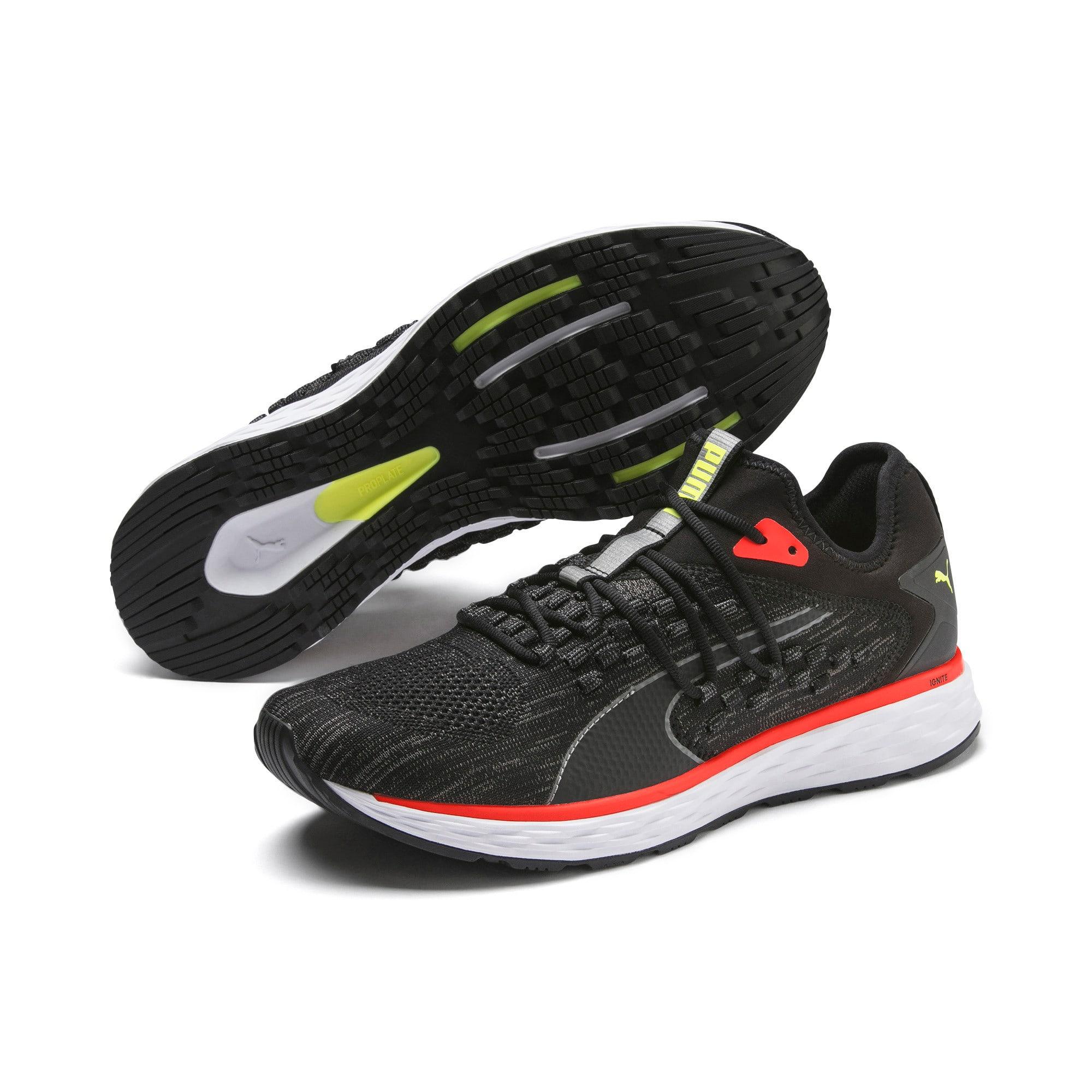 Thumbnail 3 of SPEED FUSEFIT Men's Running Shoes, Puma Black-Nrgy Red, medium