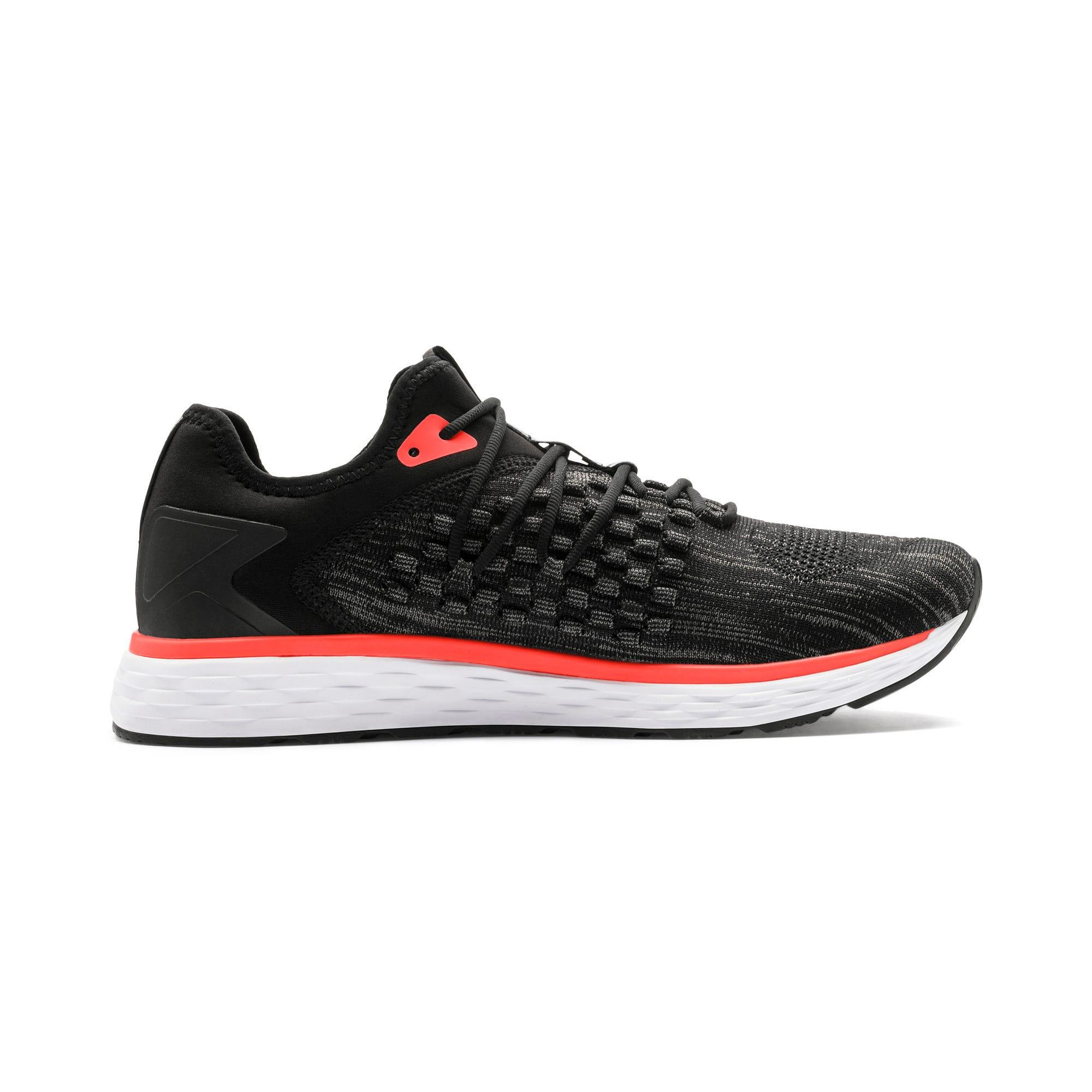 Thumbnail 6 of SPEED FUSEFIT Men's Running Shoes, Puma Black-Nrgy Red, medium