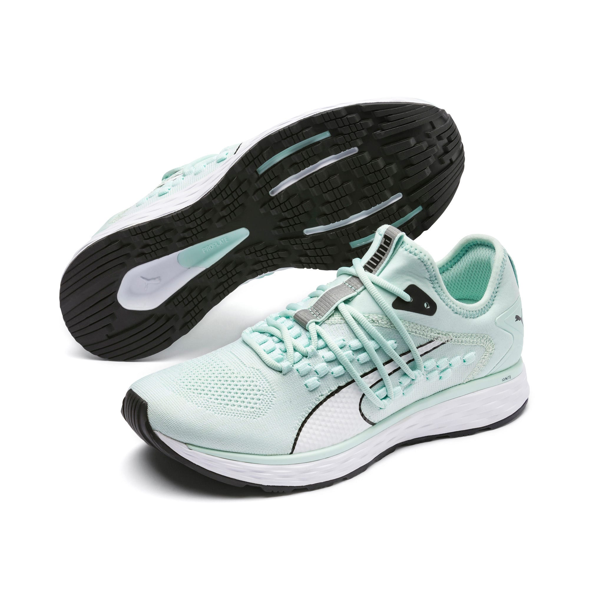 Thumbnail 3 of SPEED 600 FUSEFIT Women's Running Shoes, Fair Aqua-Puma White, medium