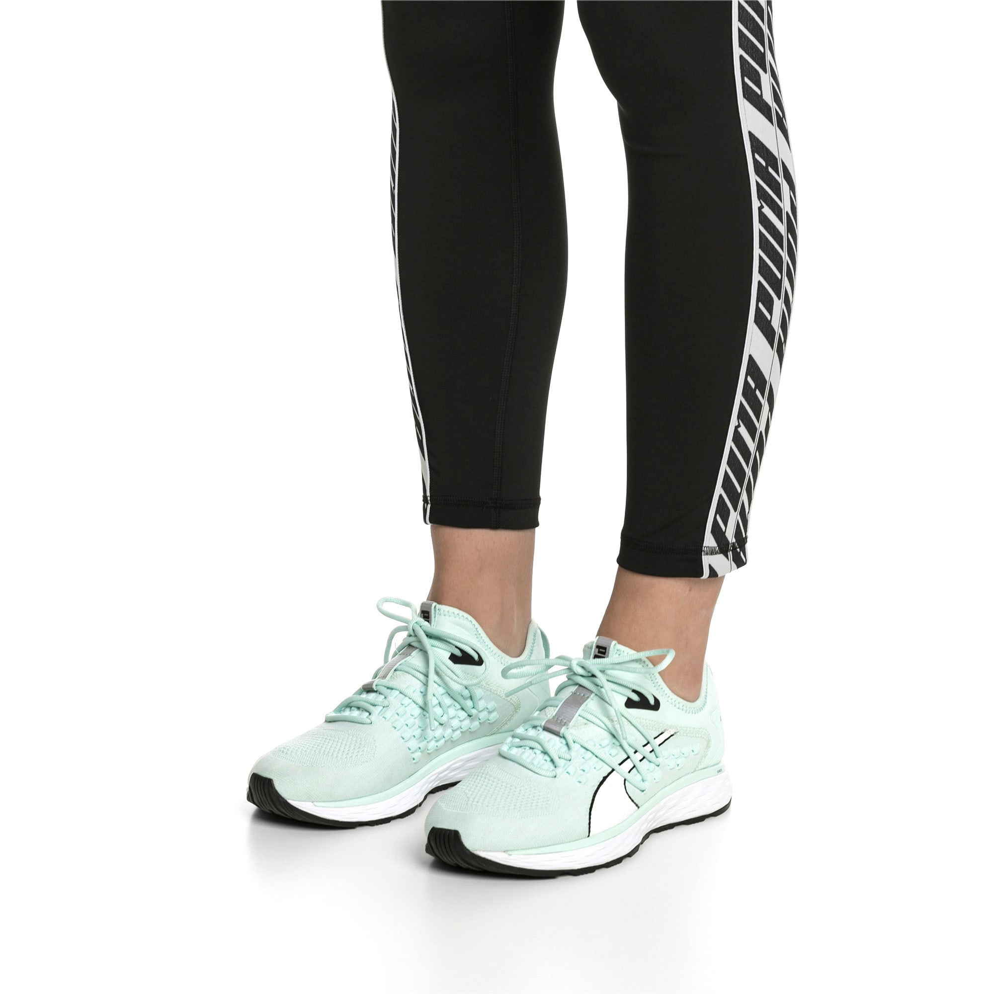 Thumbnail 2 of SPEED 600 FUSEFIT Women's Running Shoes, Fair Aqua-Puma White, medium