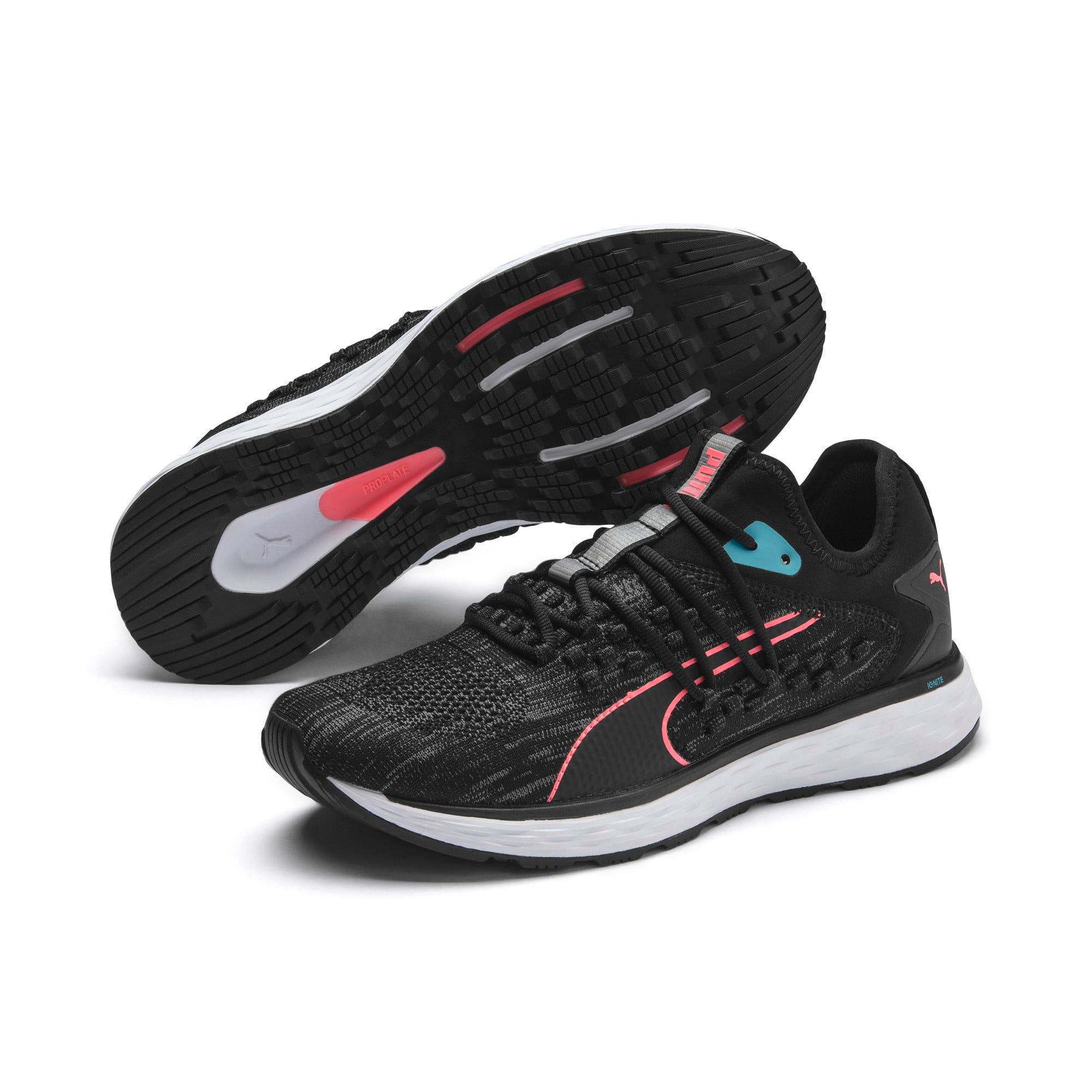 SPEED FUSEFIT Women's Running Shoes, Puma Black-Milky Blue, large
