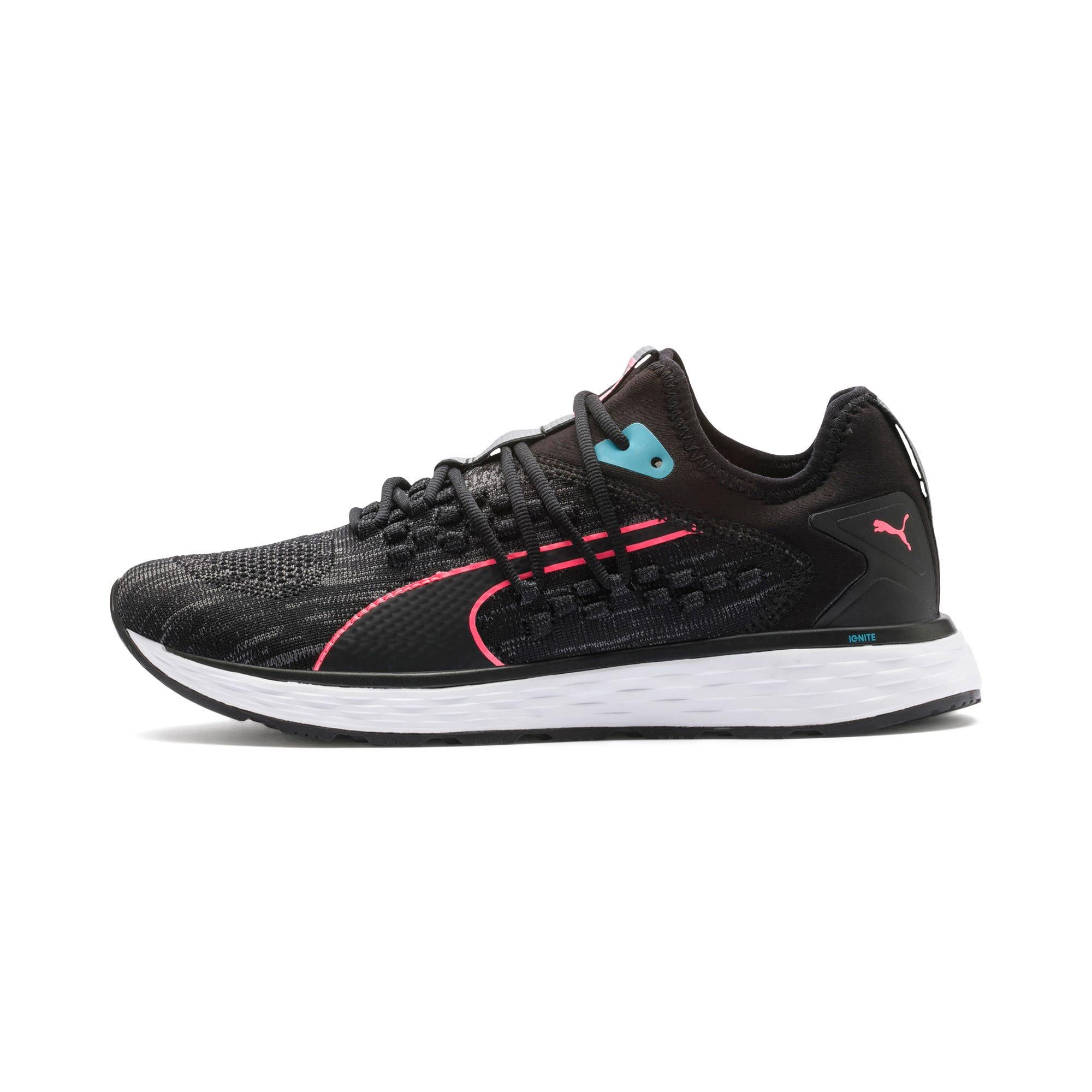 Thumbnail 1 of SPEED 600 FUSEFIT Women's Running Shoes, Puma Black-Milky Blue, medium