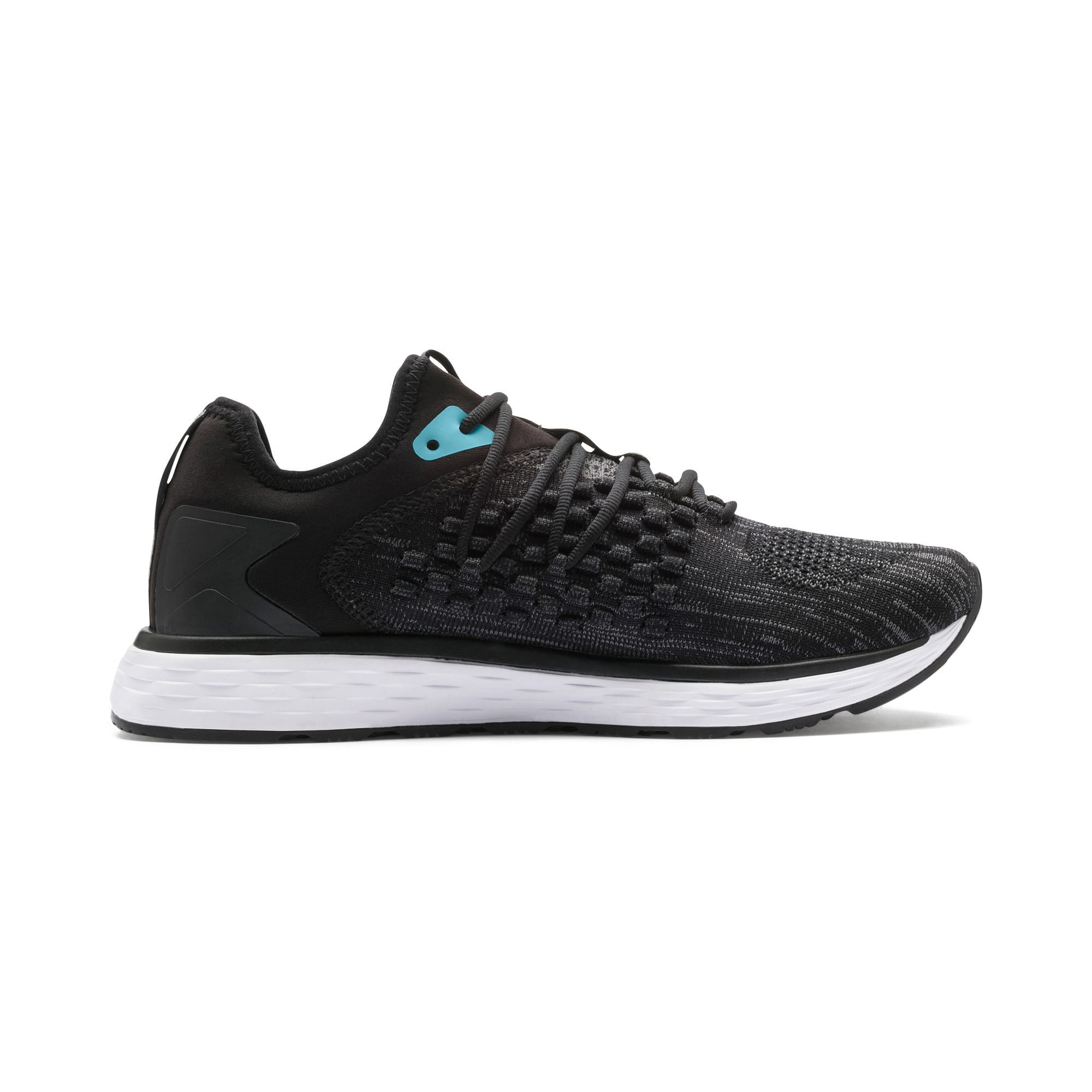 Thumbnail 6 of SPEED 600 FUSEFIT Women's Running Shoes, Puma Black-Milky Blue, medium