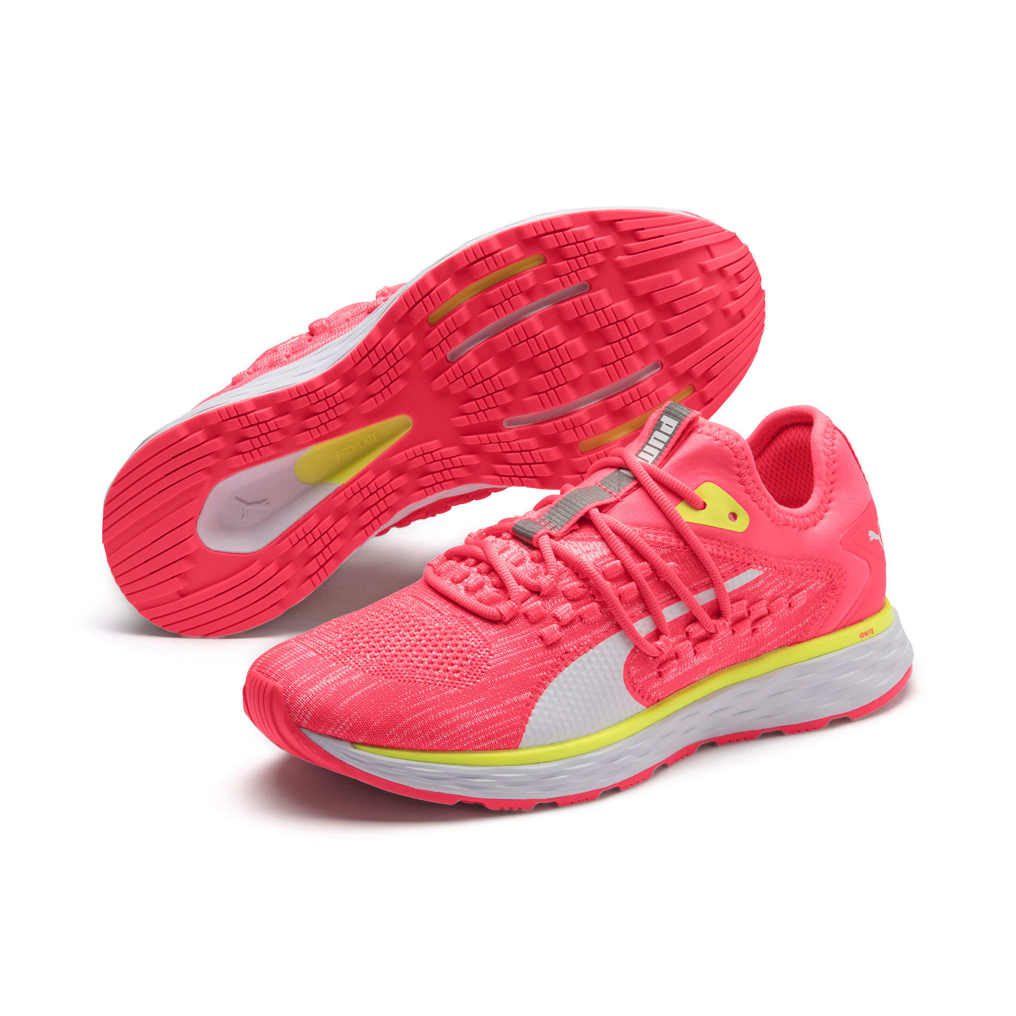 Thumbnail 3 of SPEED 600 FUSEFIT Women's Running Shoes, Pink Alert-Puma White, medium
