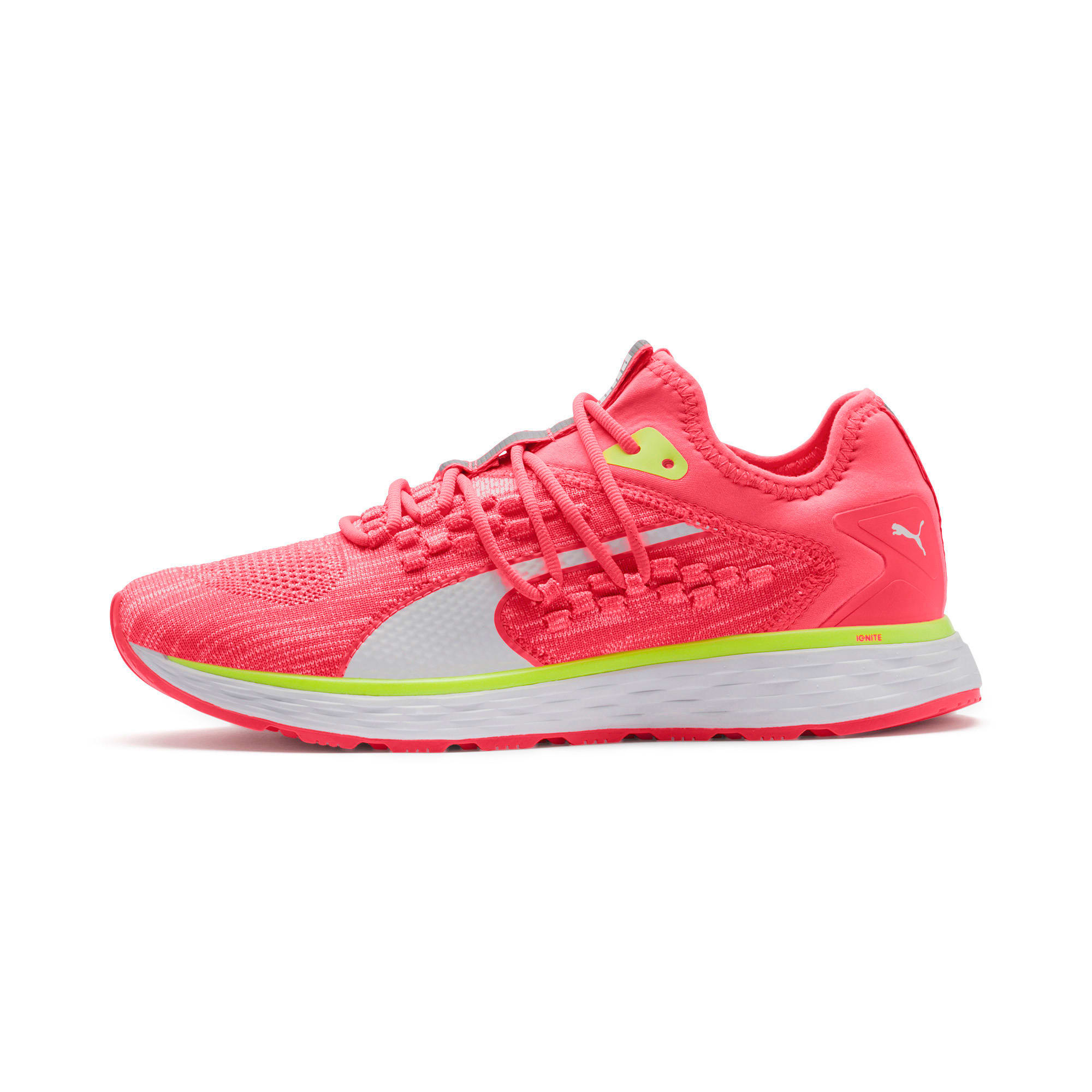 Thumbnail 1 of SPEED 600 FUSEFIT Women's Running Shoes, Pink Alert-Puma White, medium